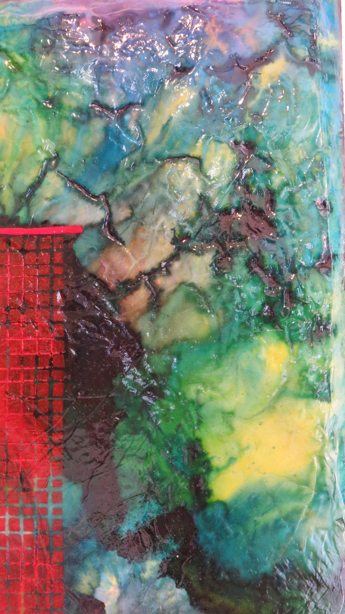 nimbes - zoom2- DALUZ GALEGO - peinture abstraite