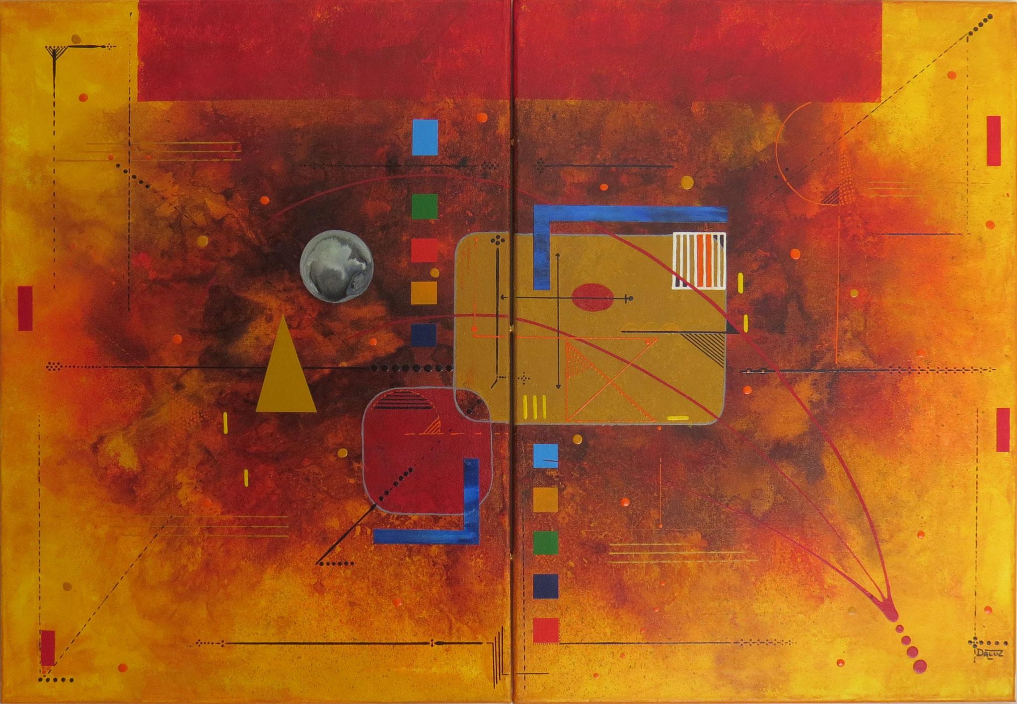 delta - vue face1 - DALUZ GALEGO - peinture abstraite