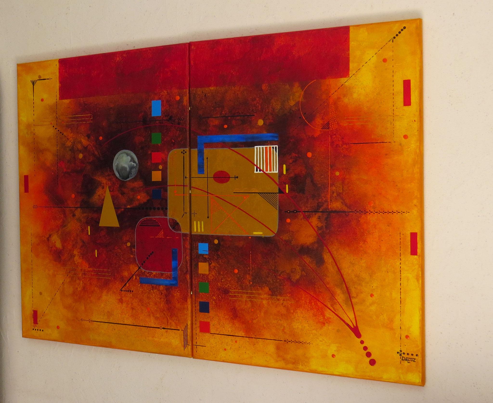 delta - vue côté2 - DALUZ GALEGO - peinture abstraite