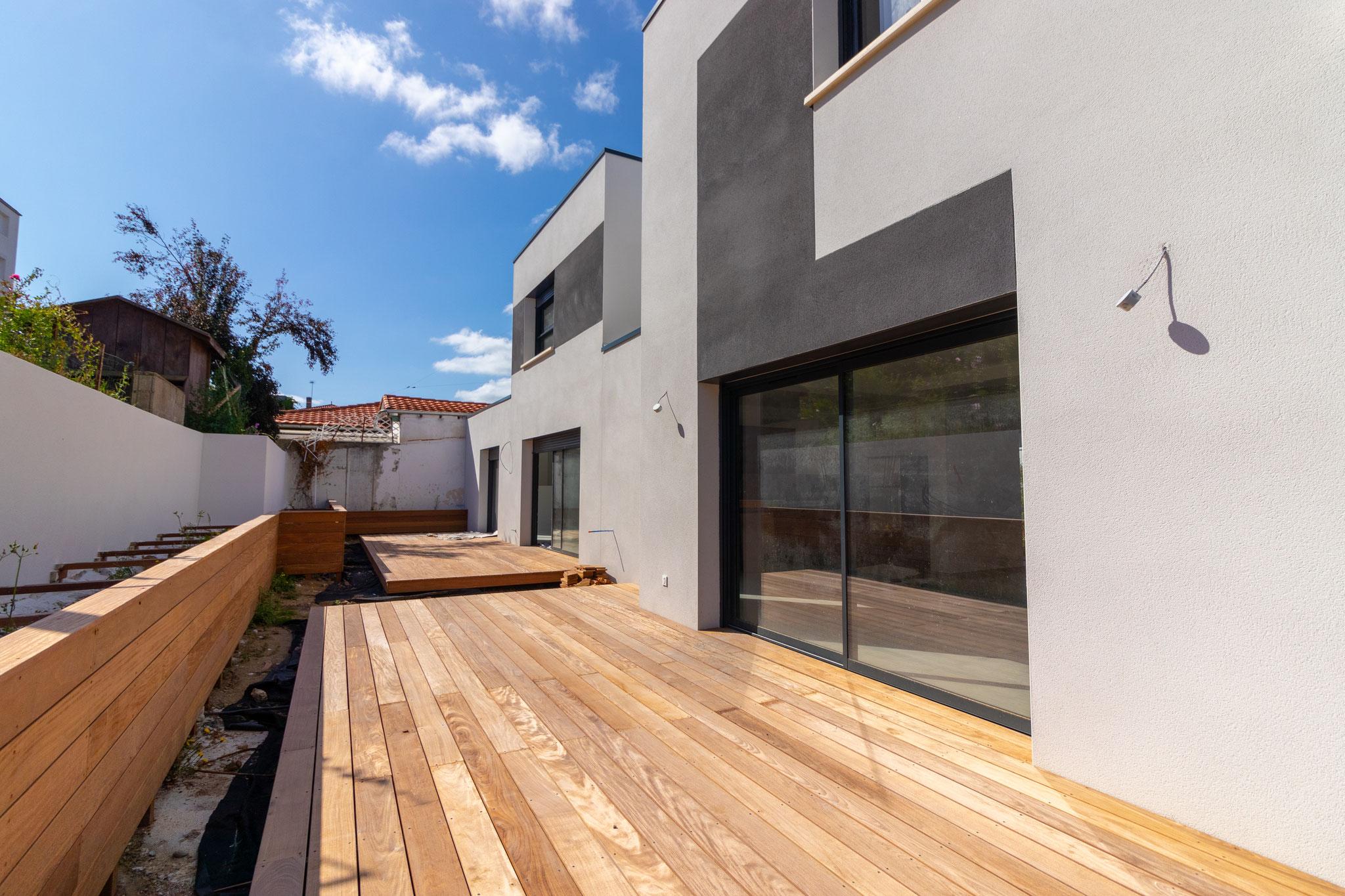 Façades coté jardin / terrasse