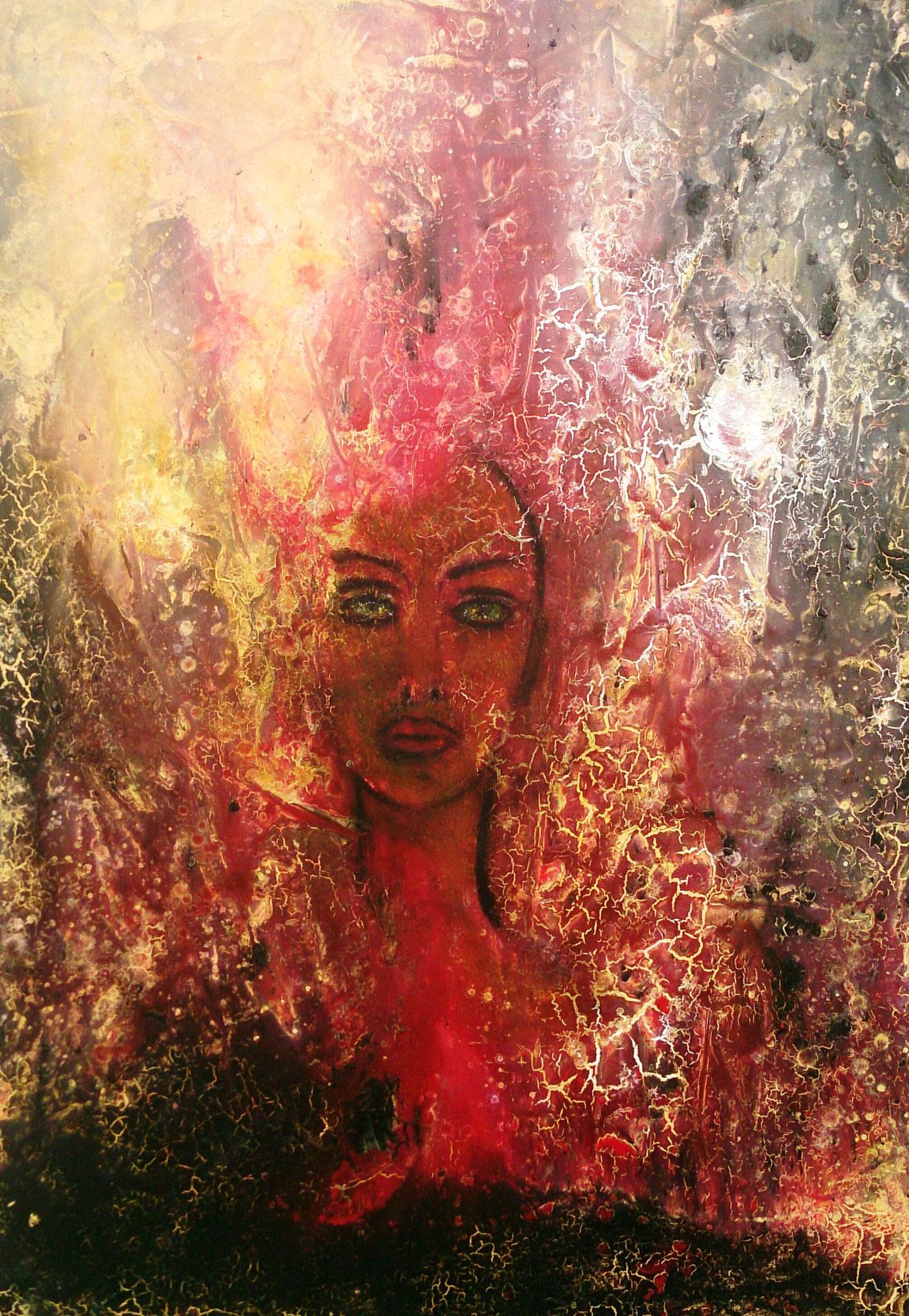 """""""Der Mensch in der Schöpfung II"""" Acryl auf Leinwand 100x70x4cm"""