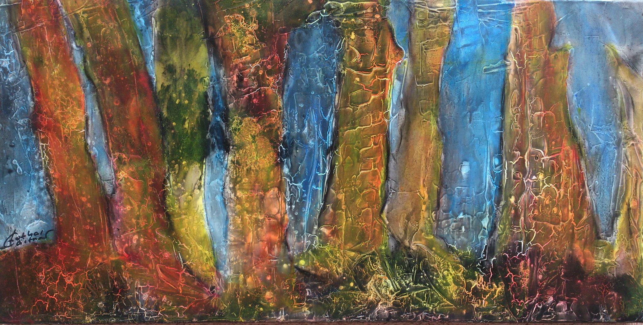 """Landschaft I"" Acryl auf Leinwand 50x100x4cm"