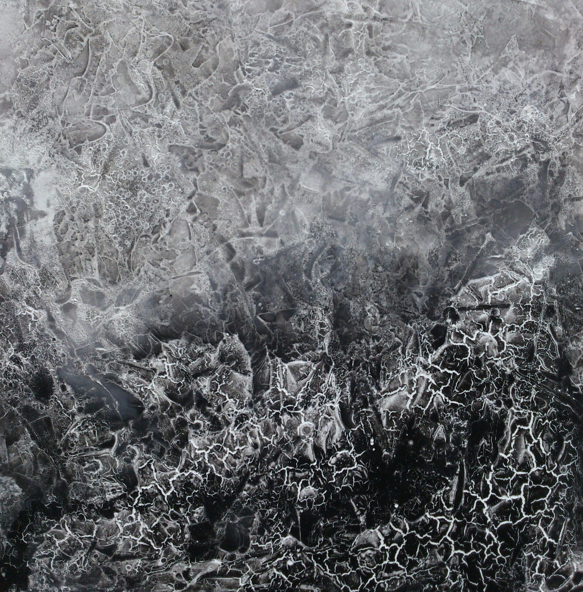 """""""Aufbruch III"""" Acryl auf Leinwand 90x90x4x4cm"""