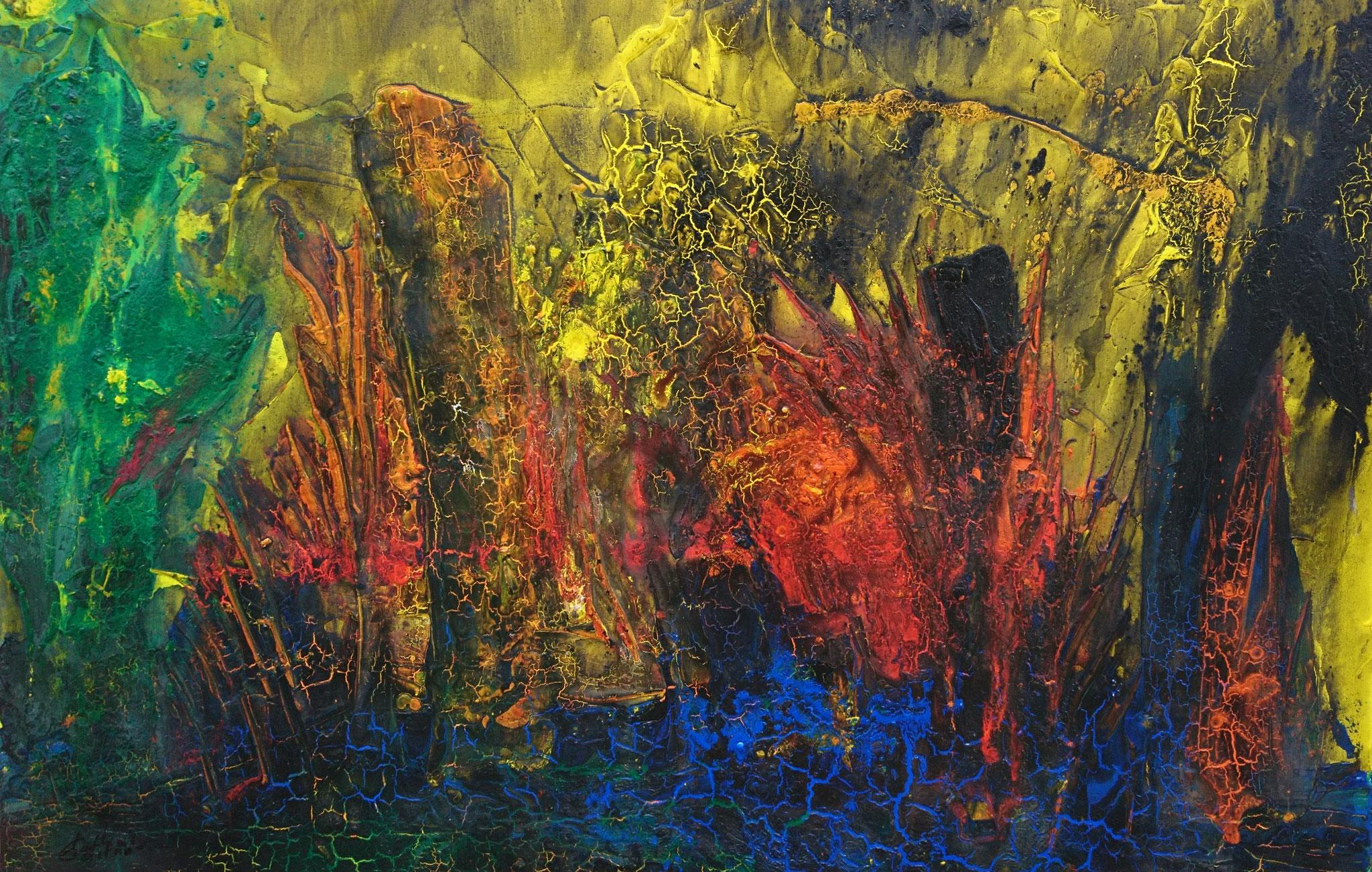 """""""Am Wasser III"""" Acryl auf Leinwand 80x120x3cm"""