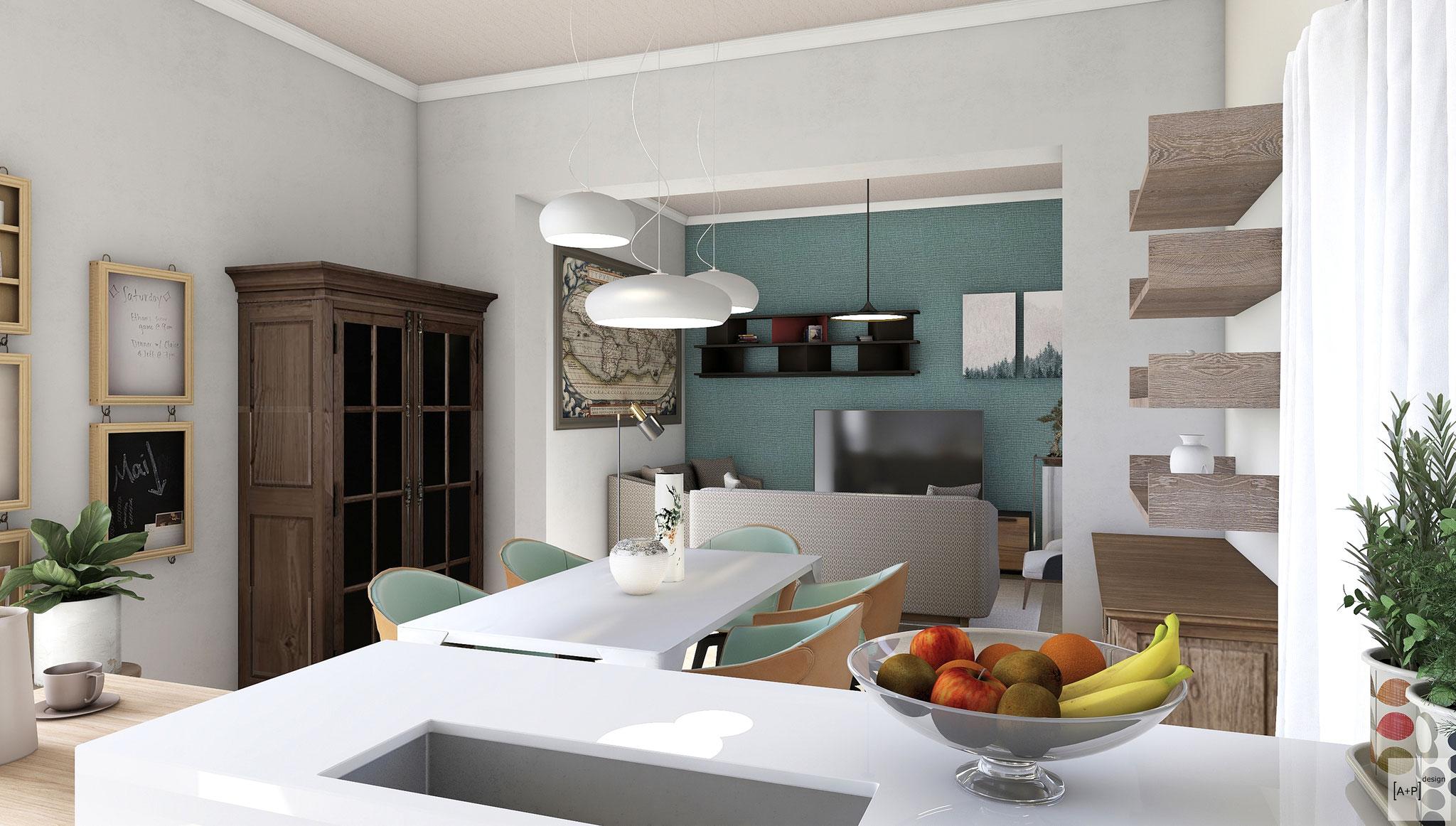 Progetto ristrutturazione cucina - © Alessio Pea & Federica Perissi