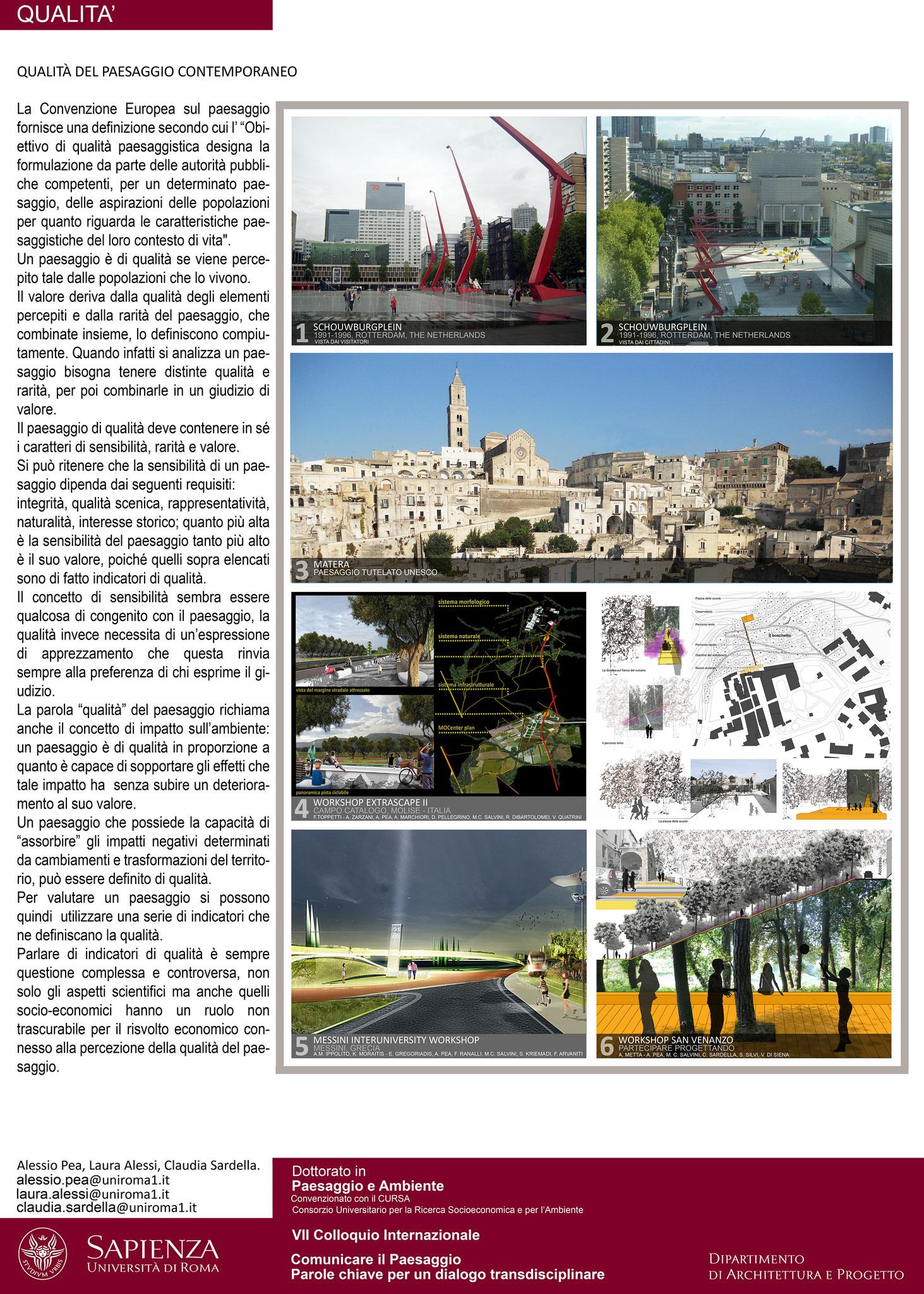 Qualità del Paesaggio Contemporaneo - © L. Alessi, A. Pea, C. Sardella