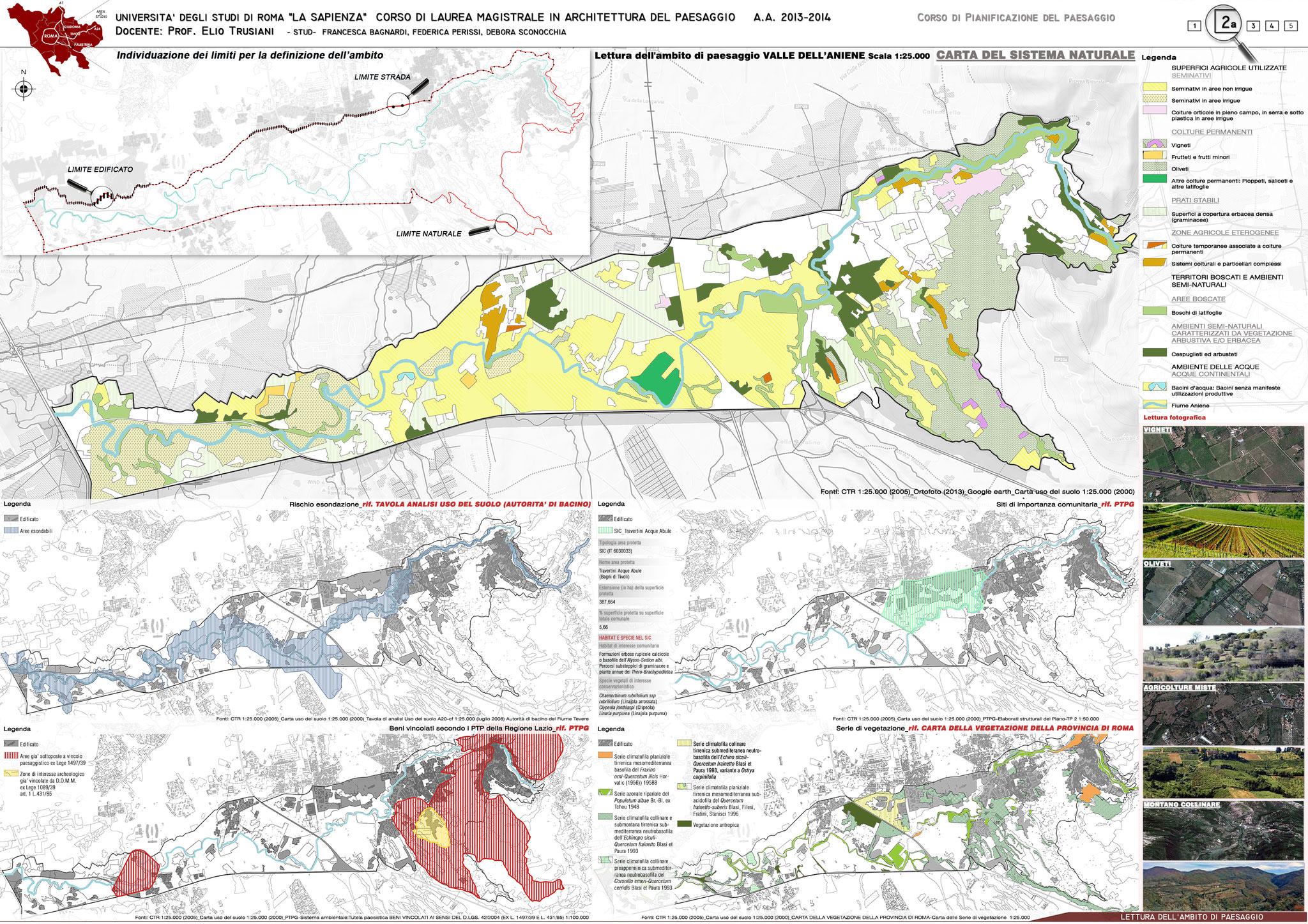 Lettura dell'ambito di paesaggio Valle dell'Aniene - © F. Bagnardi, F. Perissi, D. Sconocchia