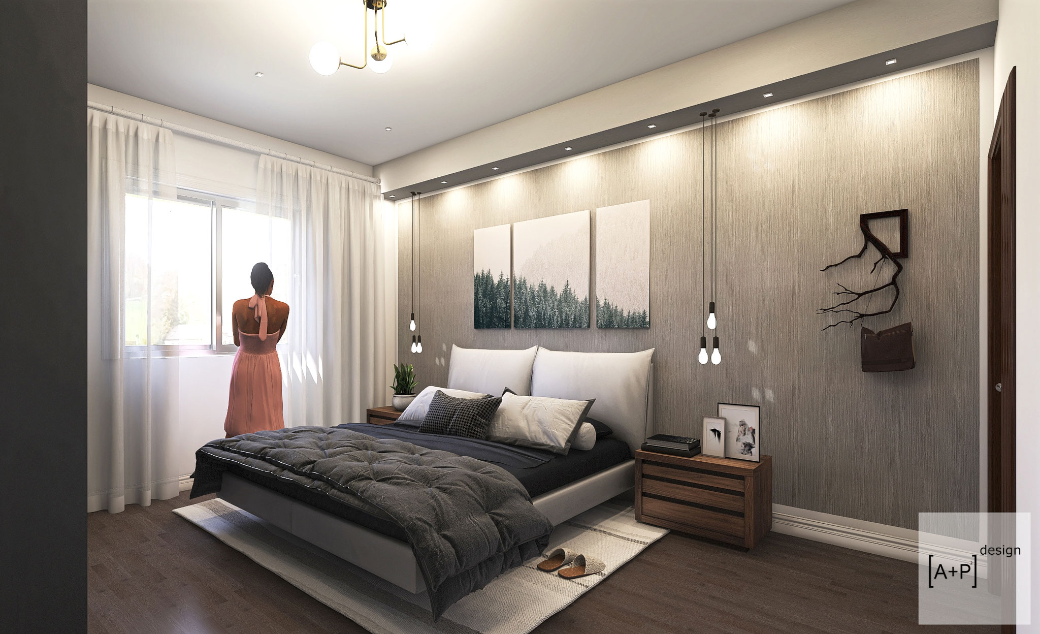 Progetto ristrutturazione camera da letto - © Alessio Pea & Federica Perissi