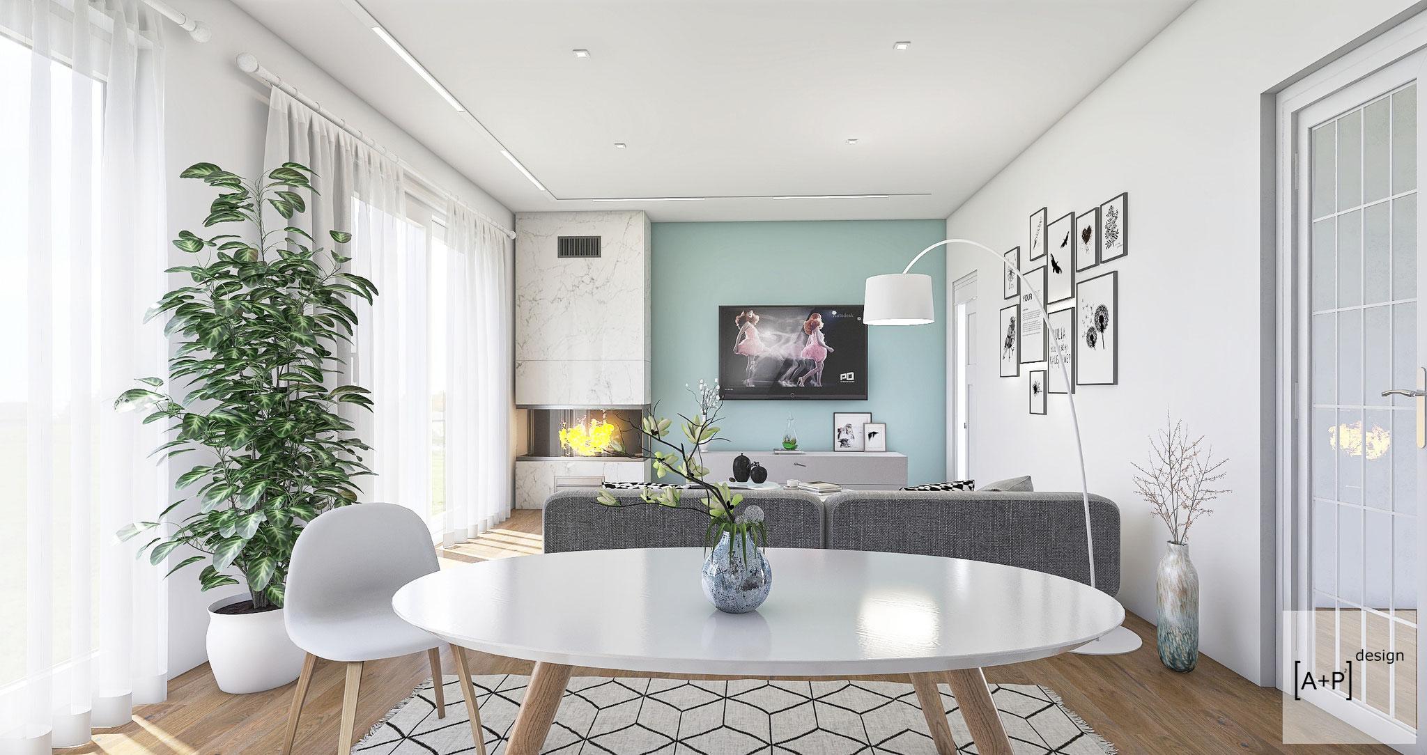 Progetto ristrutturazione soggiorno - © Alessio Pea & Federica Perissi