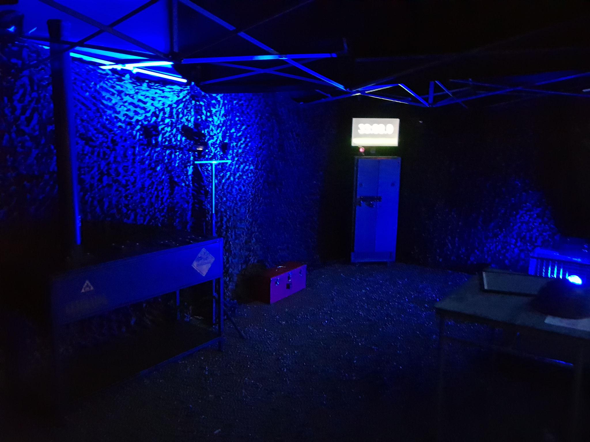 Mobiler Escape Room Outdoor im Zelt