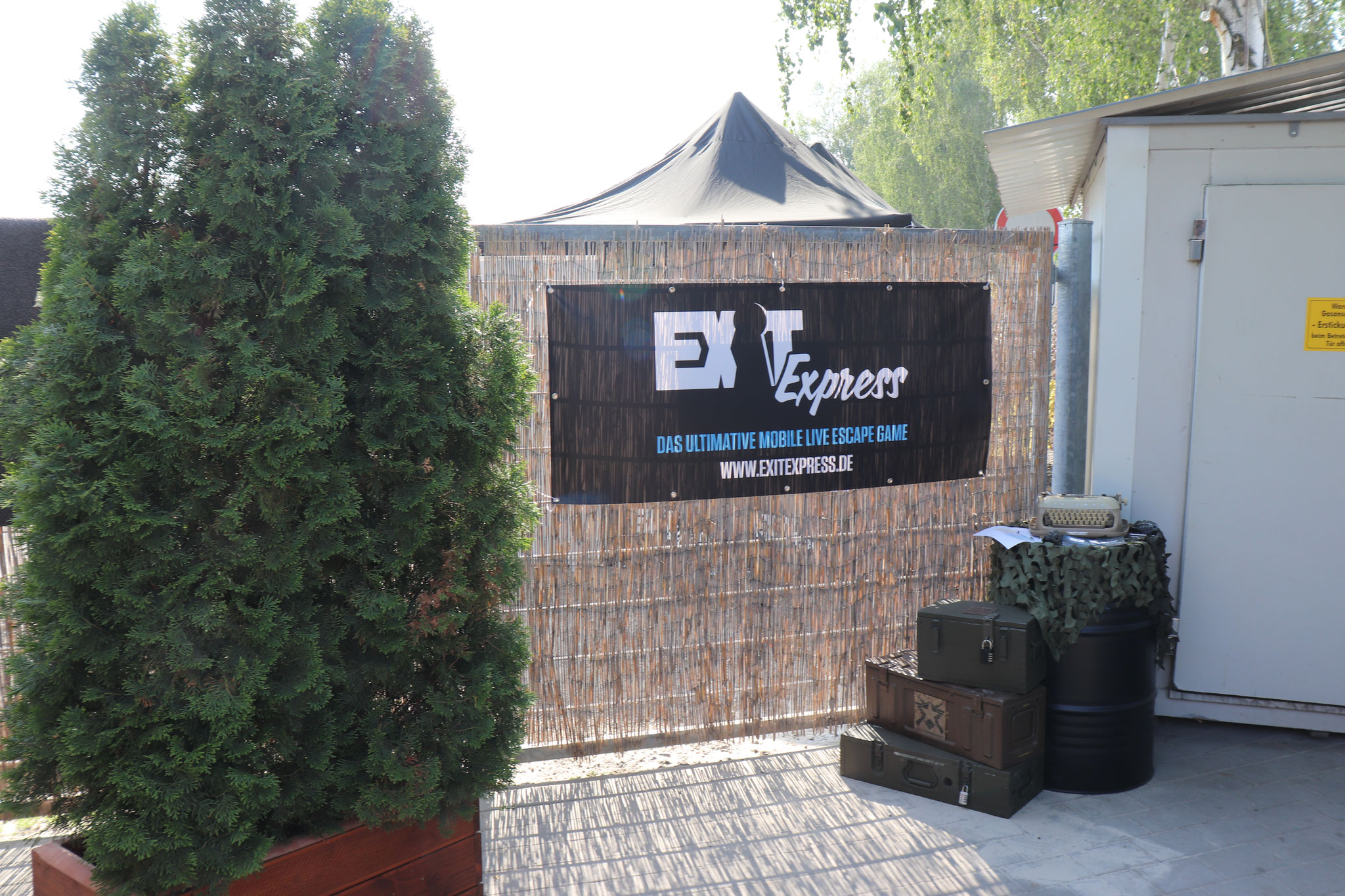Outdoor Escape Room Eingang