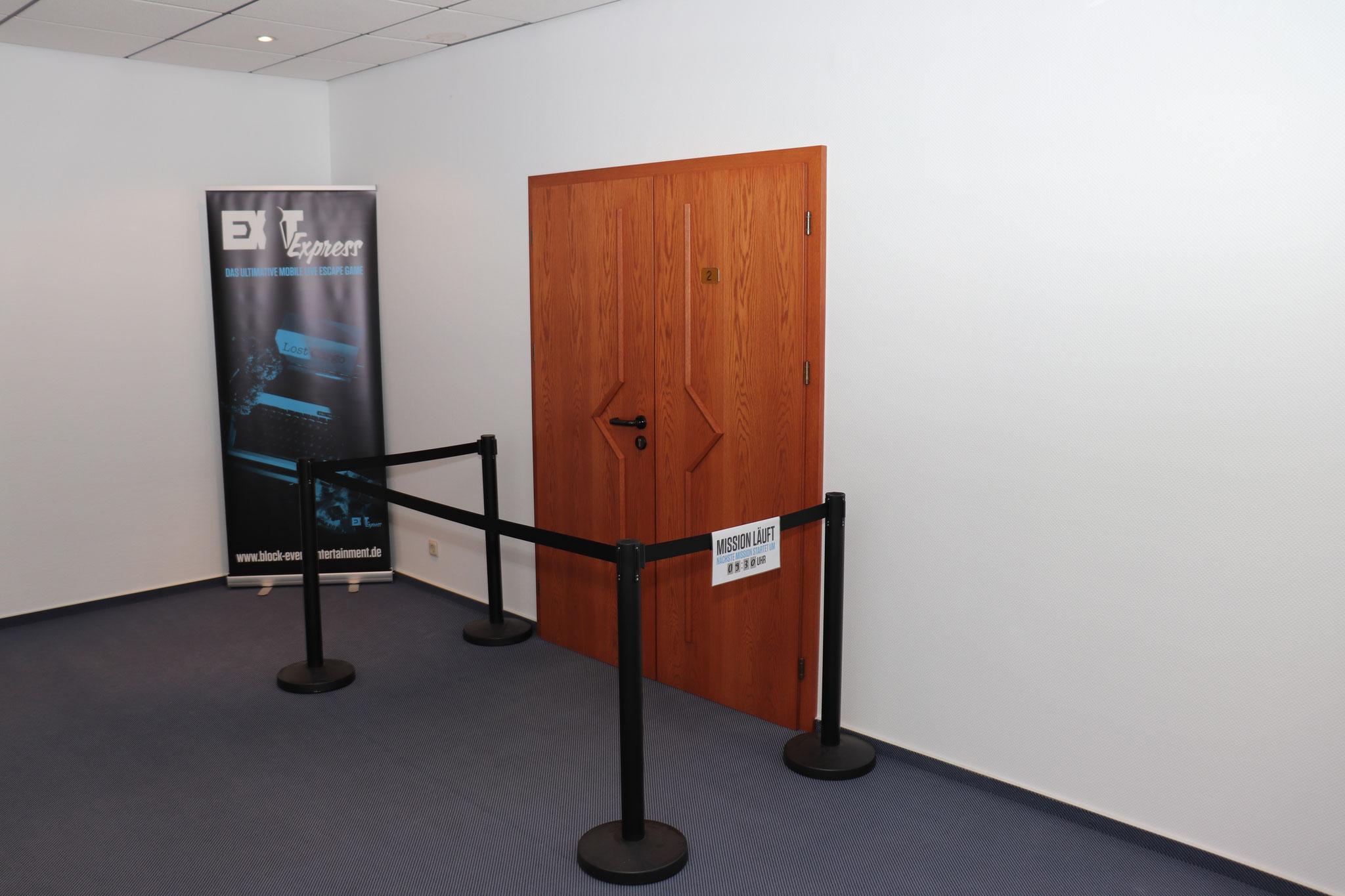 Escape Game Eingang im Seminarraum