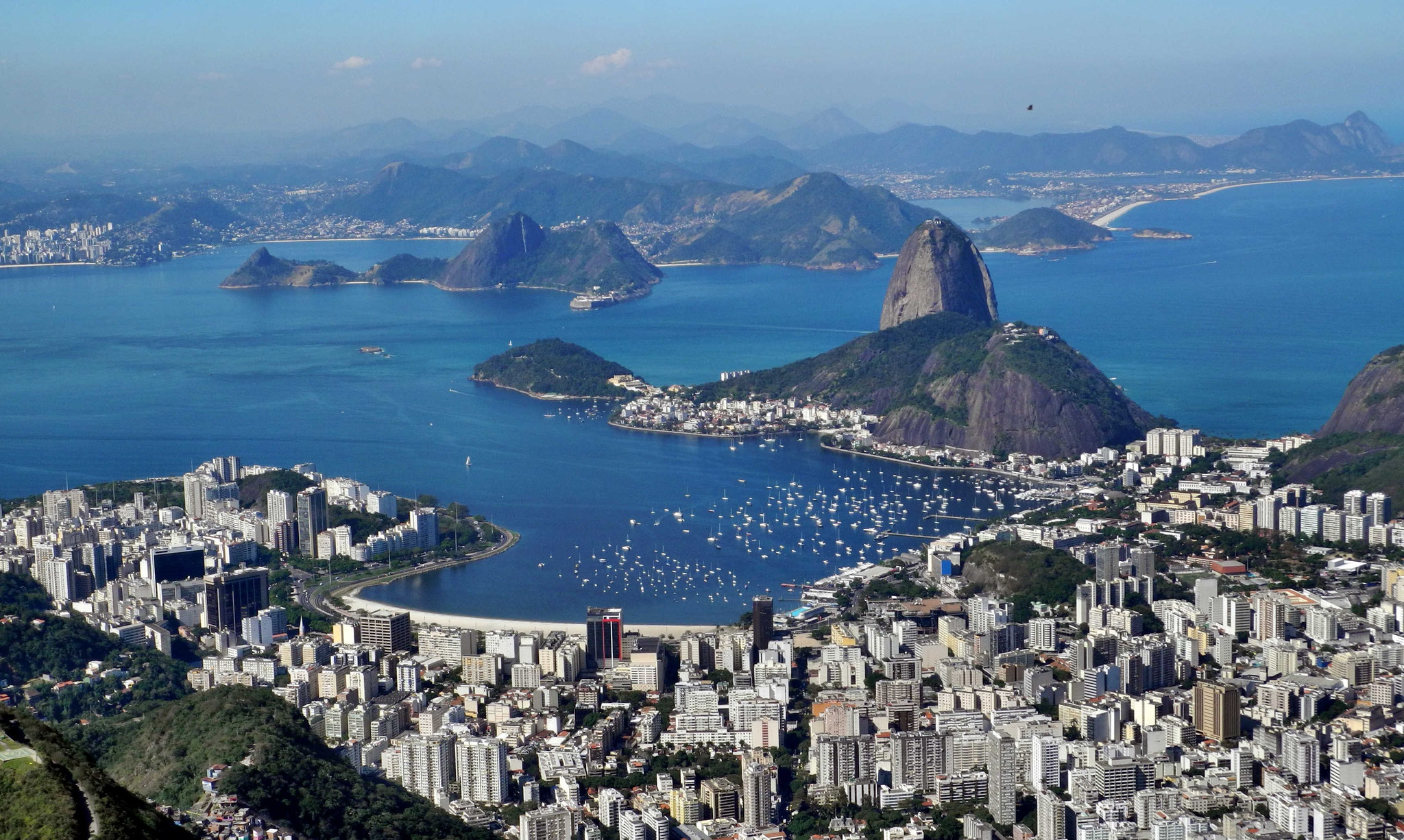 Blick vom Corcovado zum Zuckerhut