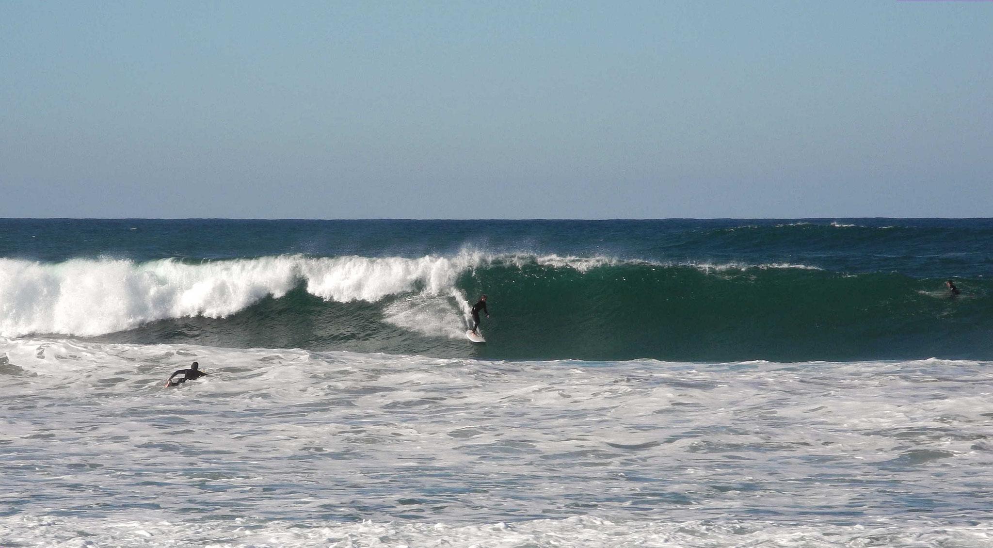Surfer bei der Arbeit