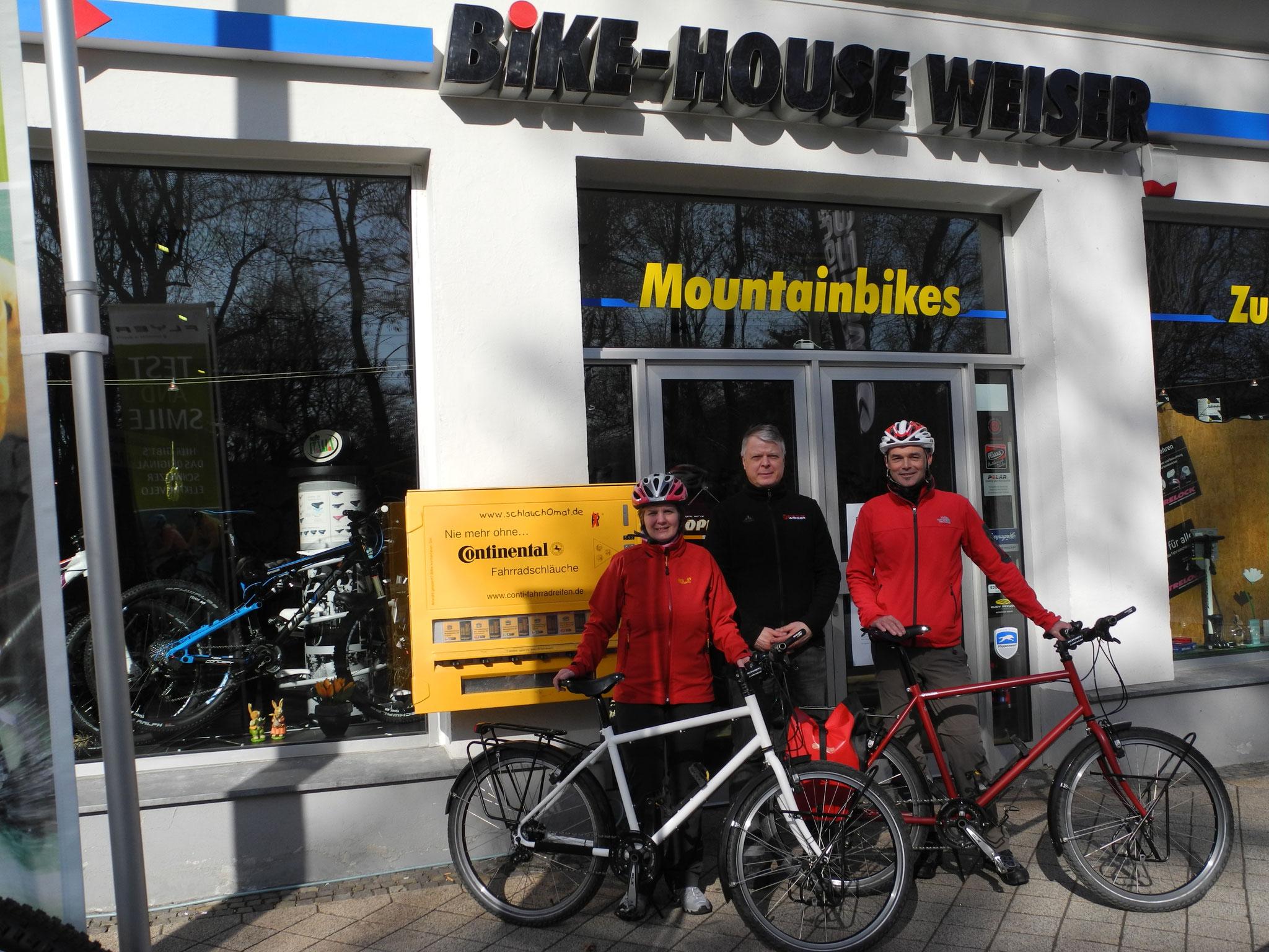 Unsere Reiseräder - gebaut vom Bike-House-Weiser Gera