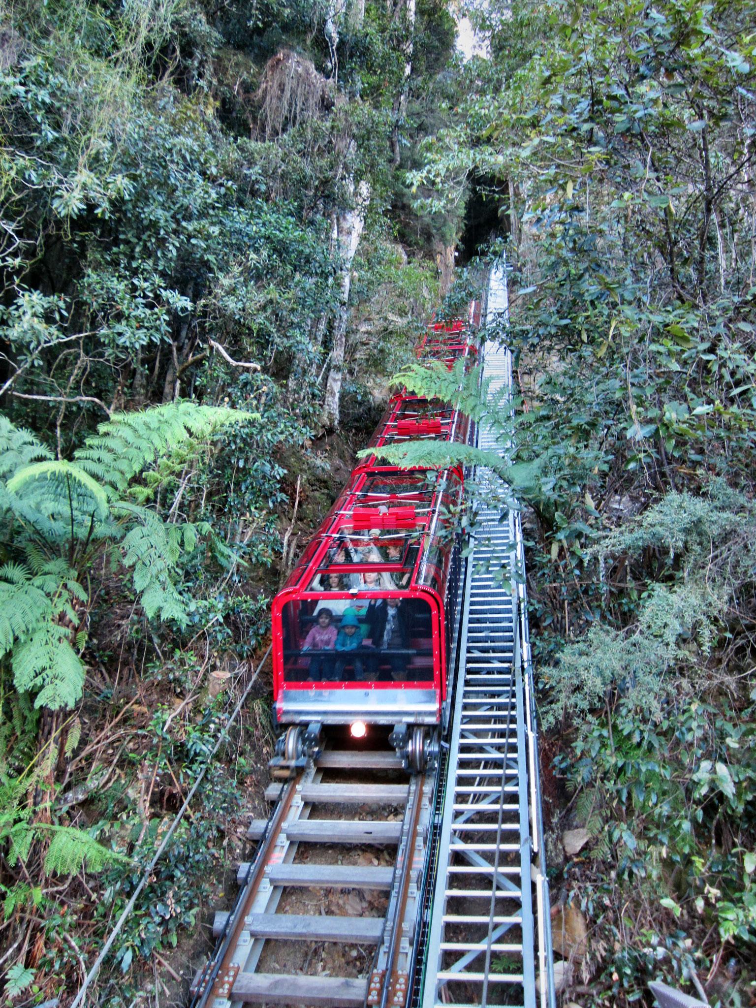Katoomba Scenic Railway - mit 52° die steilste Bahn der Welt