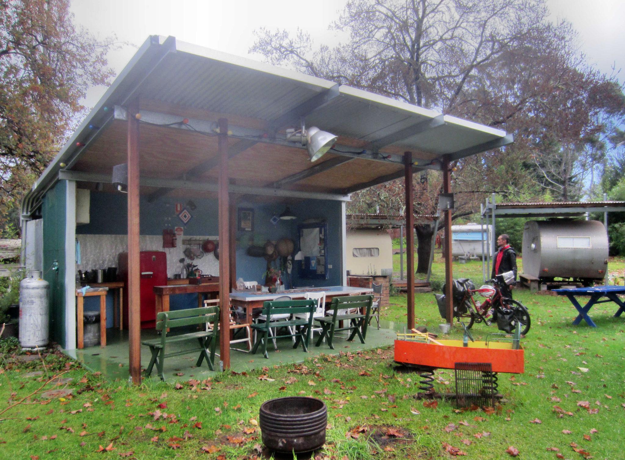 Campingplatz mit Küche