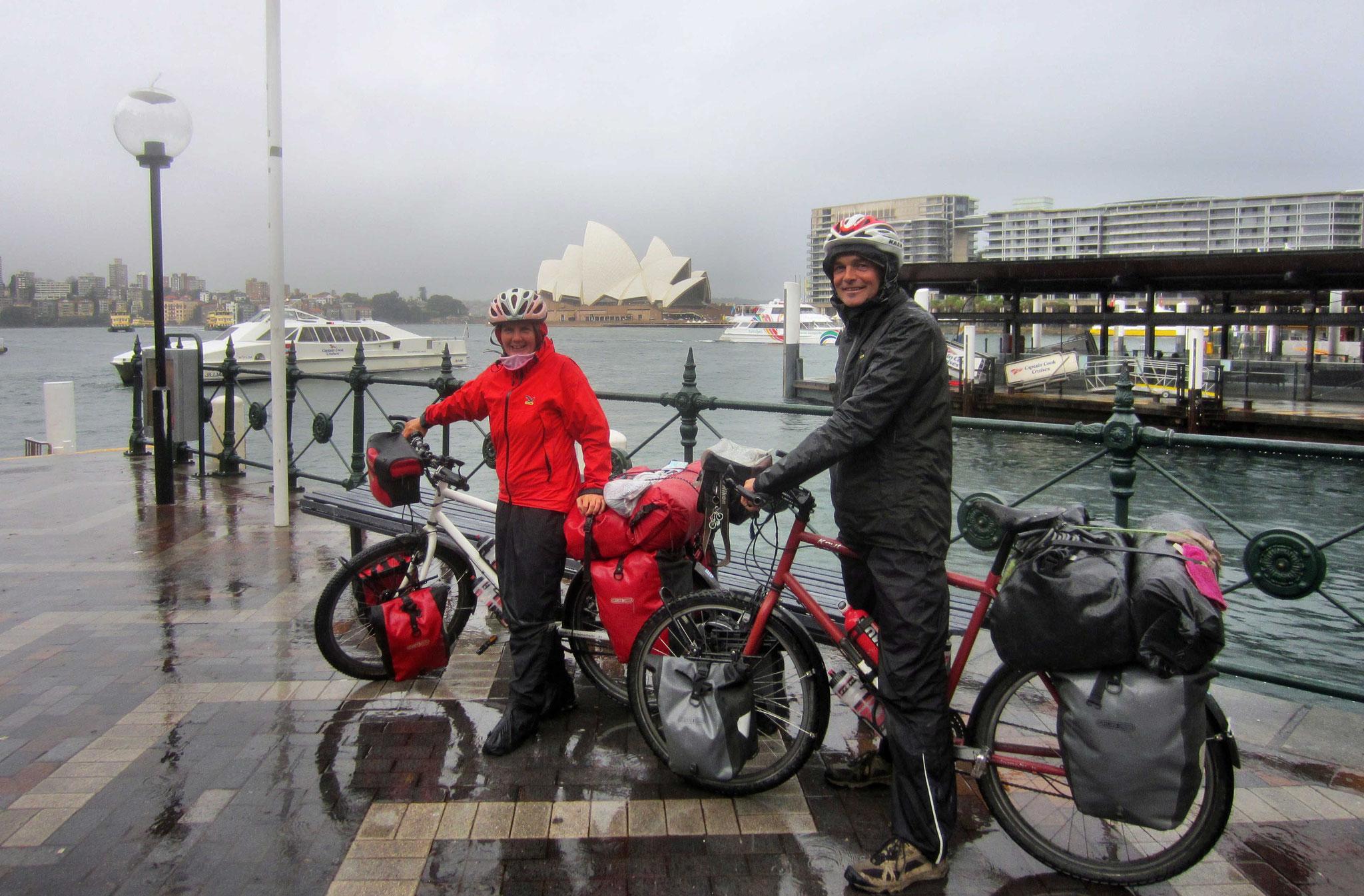 Ankunft in Sydney - Natürlich im Regen