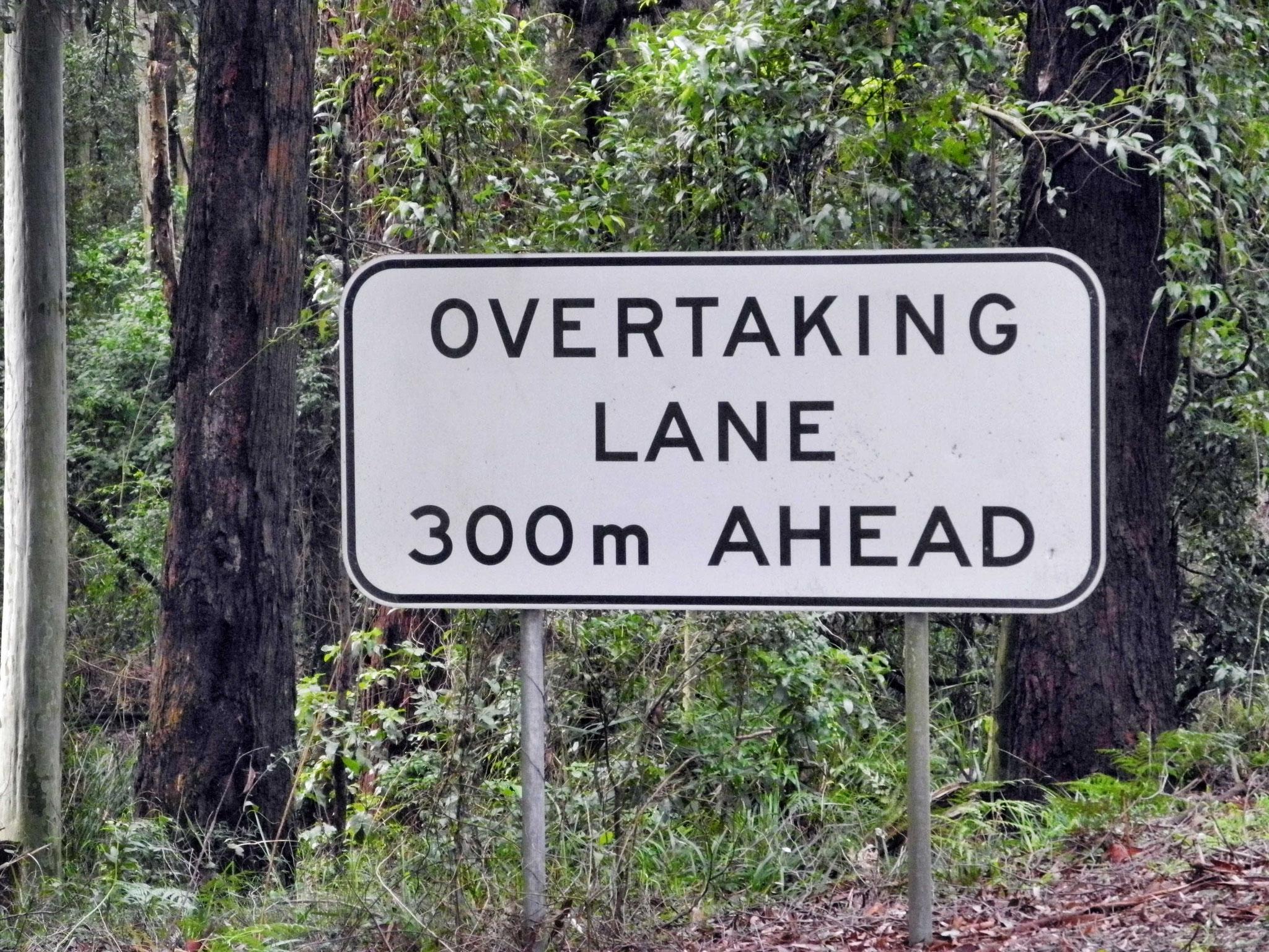 Dieses Schild lernten wir hassen - kündigte es doch immer den nächsten Berg an