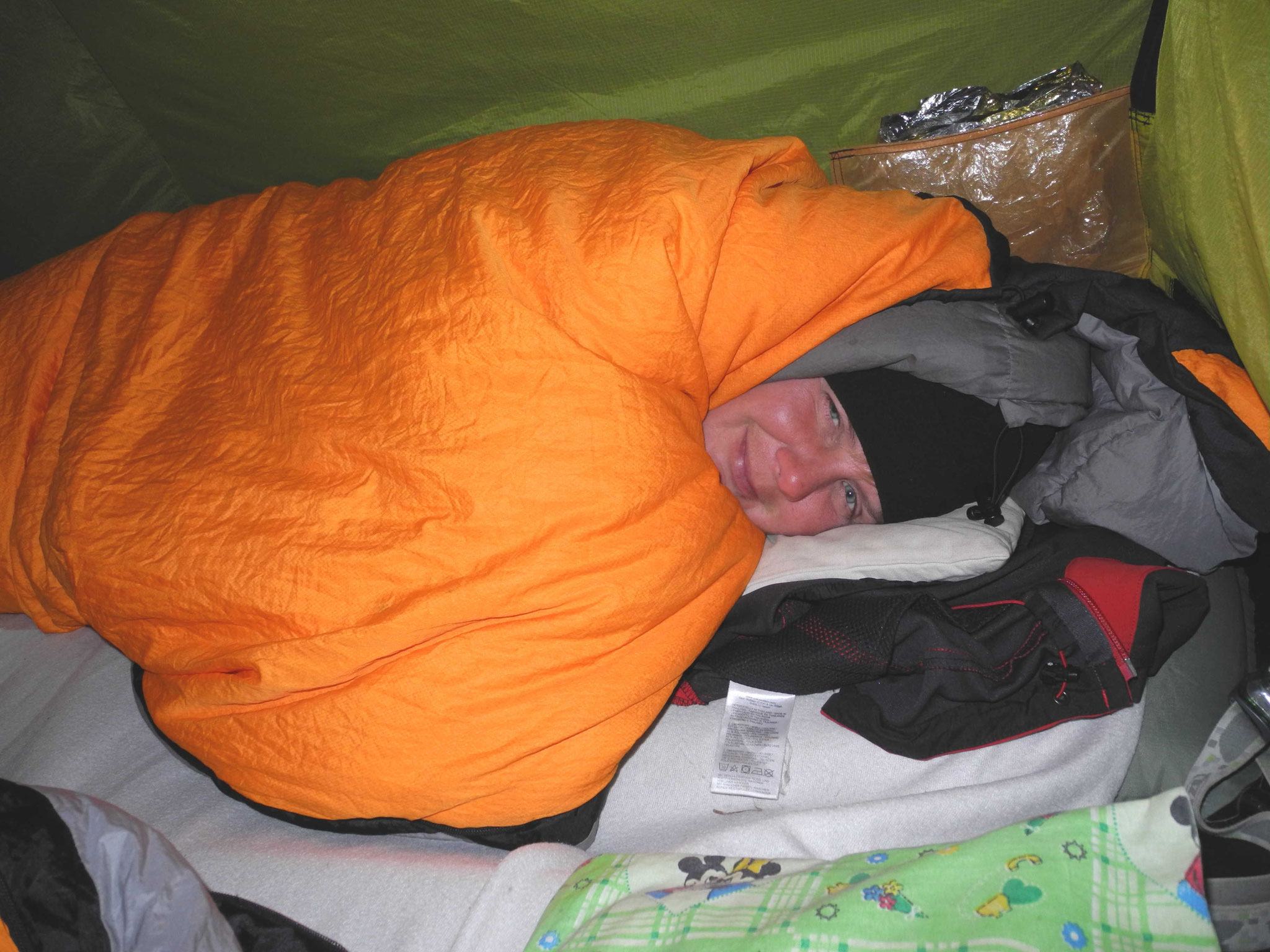Diese Nacht waren es knackige -8°C ...