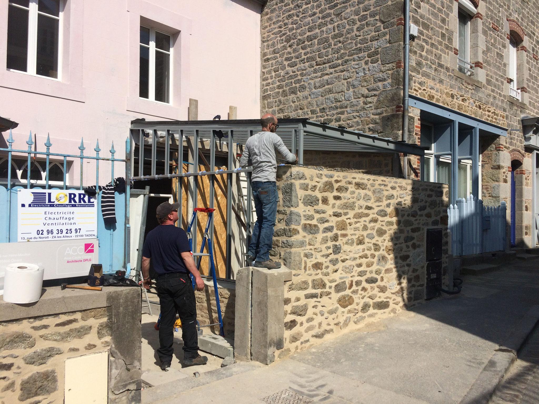 Pose du Pignon de la veranda a Dinard
