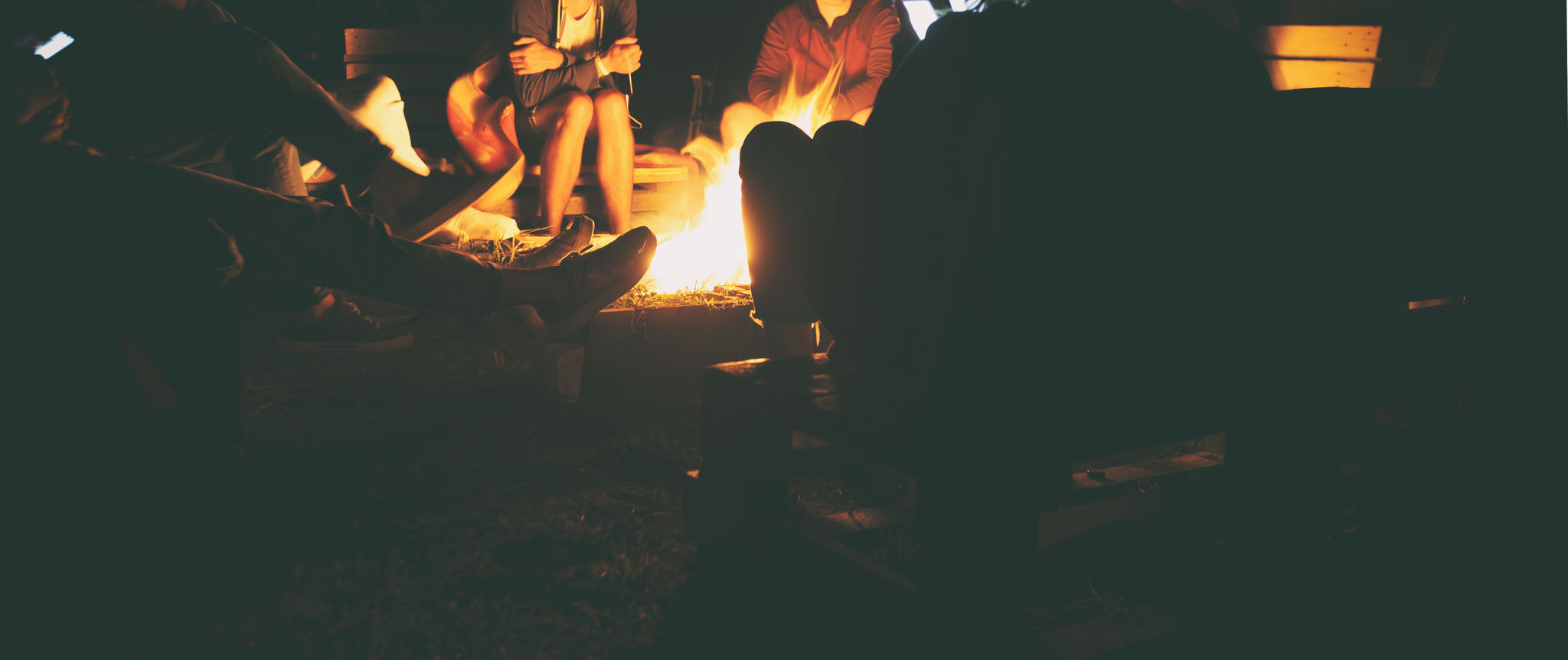 Vielleicht auch am Feuer sitzen ...