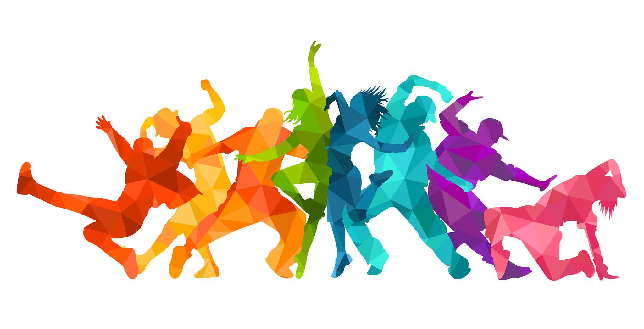 Lachen und tanzen ...