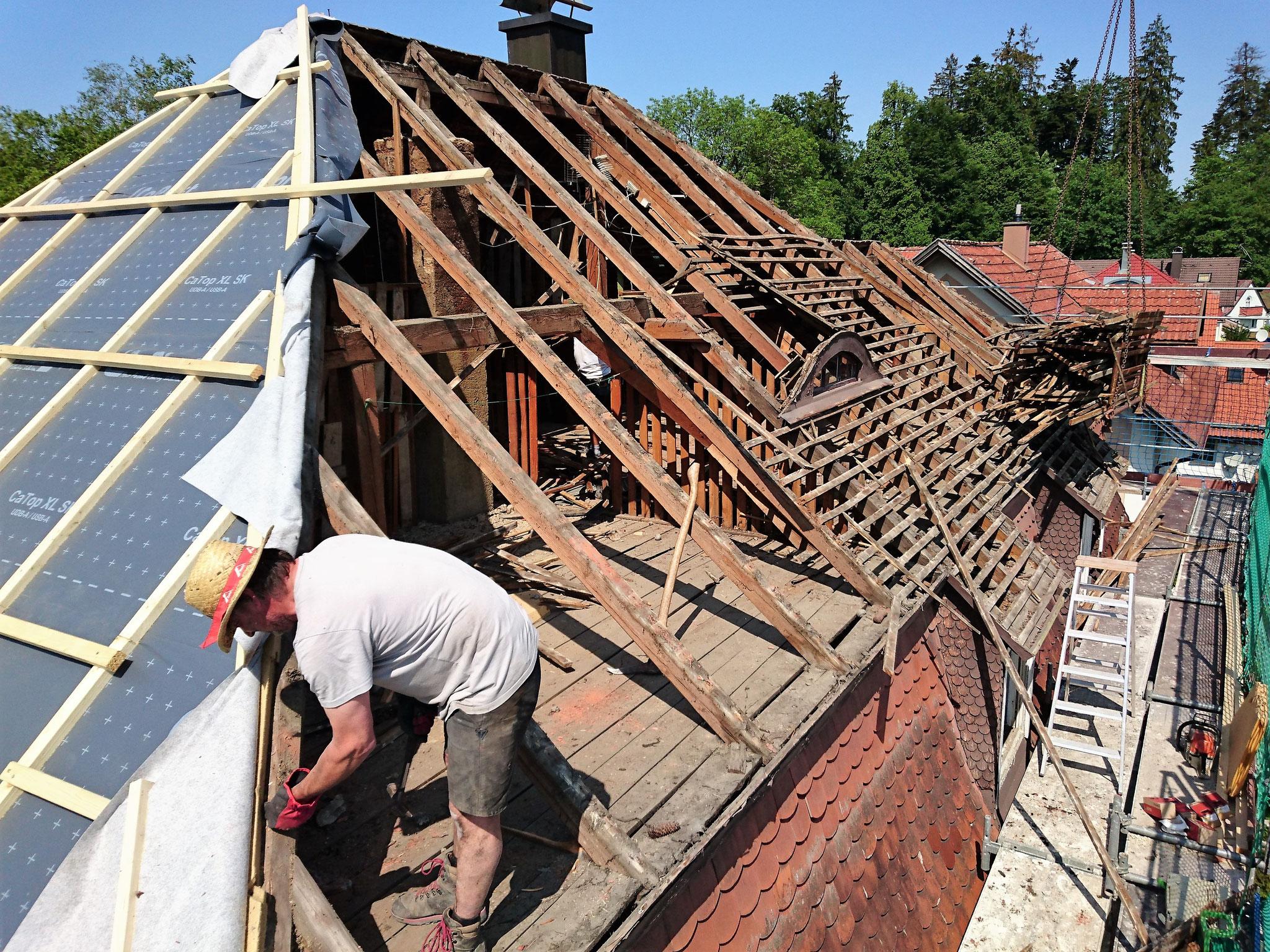 Bauphase, Sanierung Stadthaus in Lindenberg