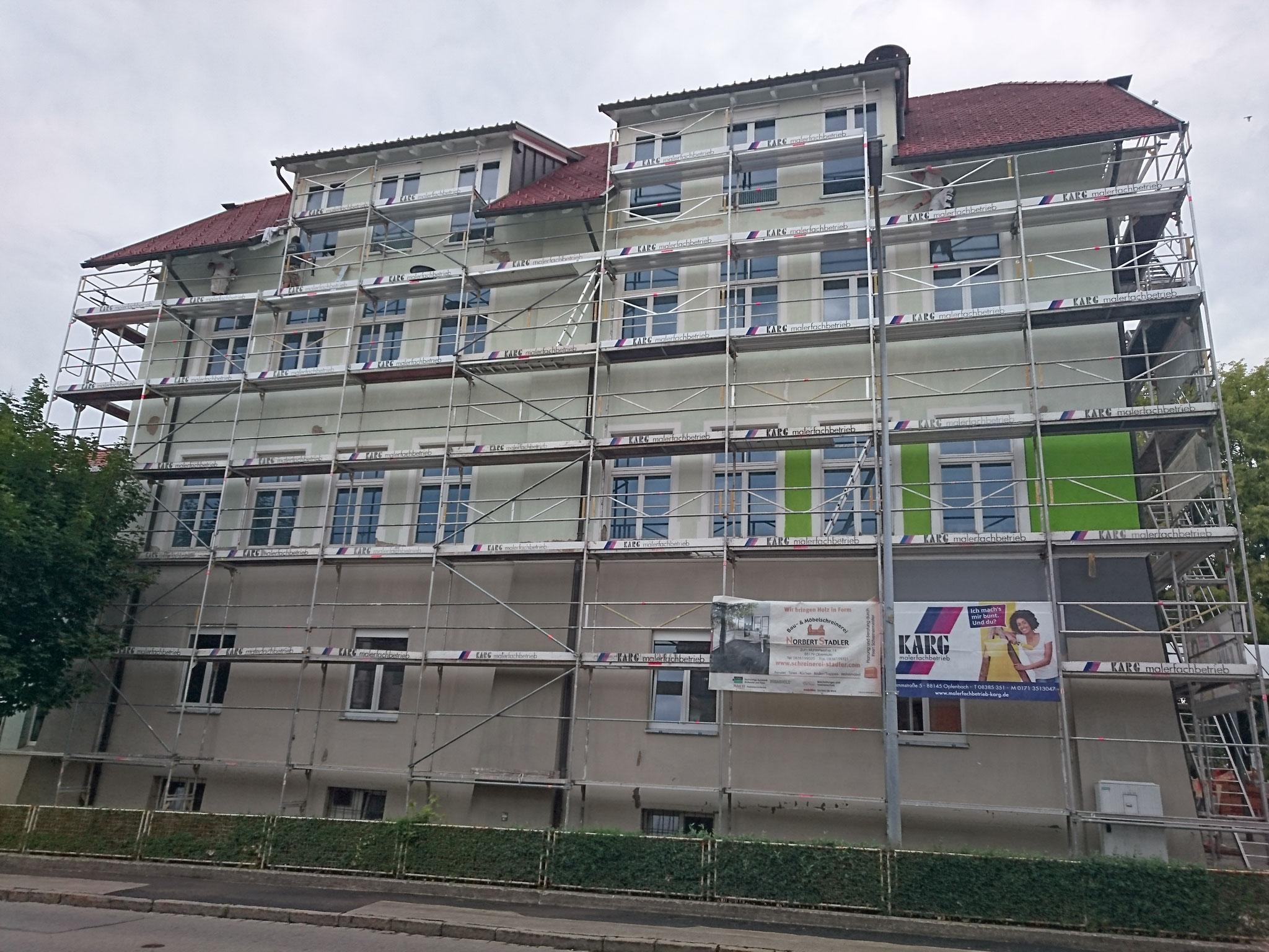 Energetische Sanierung Grundschule in Opfenbach - Bauphase