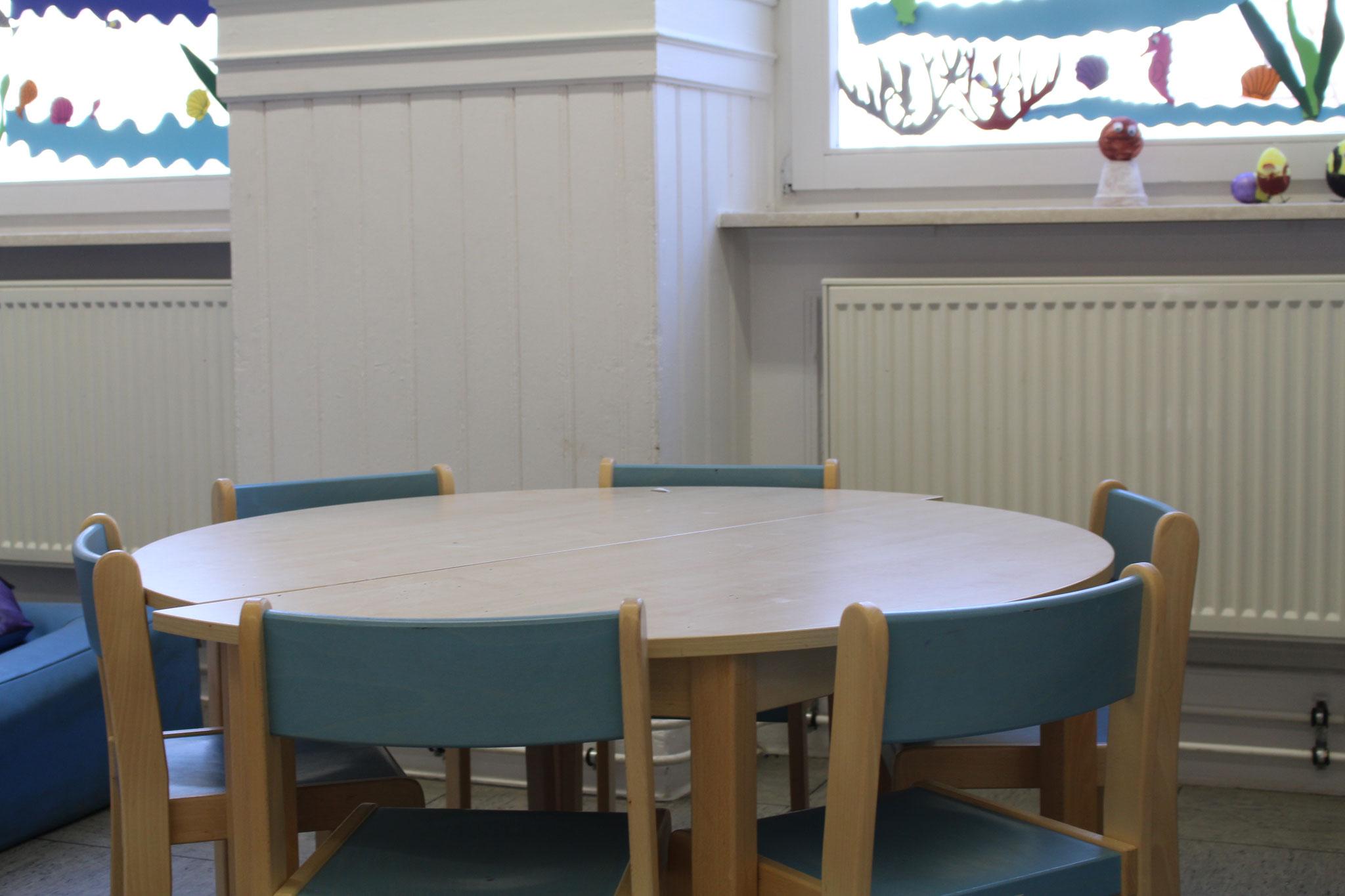 Das ist der Spieltisch in der Ersten Bettreuungsraum. Fotografen: LUKAS,LEANDROS