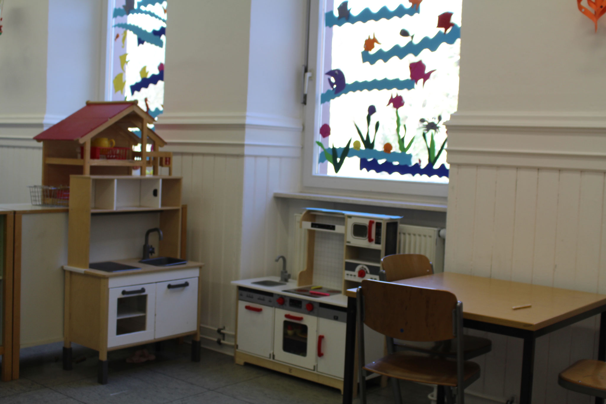Hier ist die Kinderküche.Kinder spielen hier sehr gerne.Fotografen:LUKAS,LEANDROS