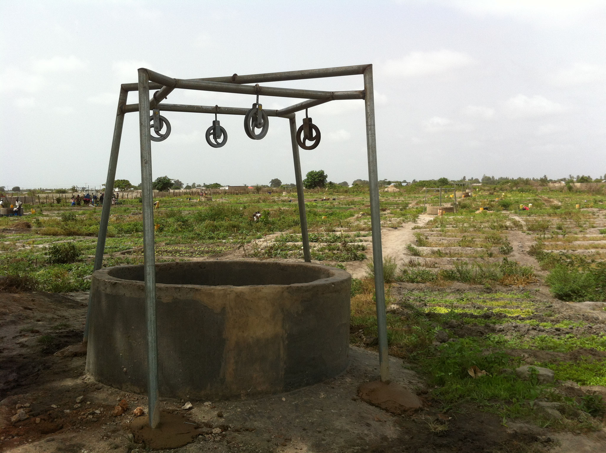 Umgebauter Brunnen
