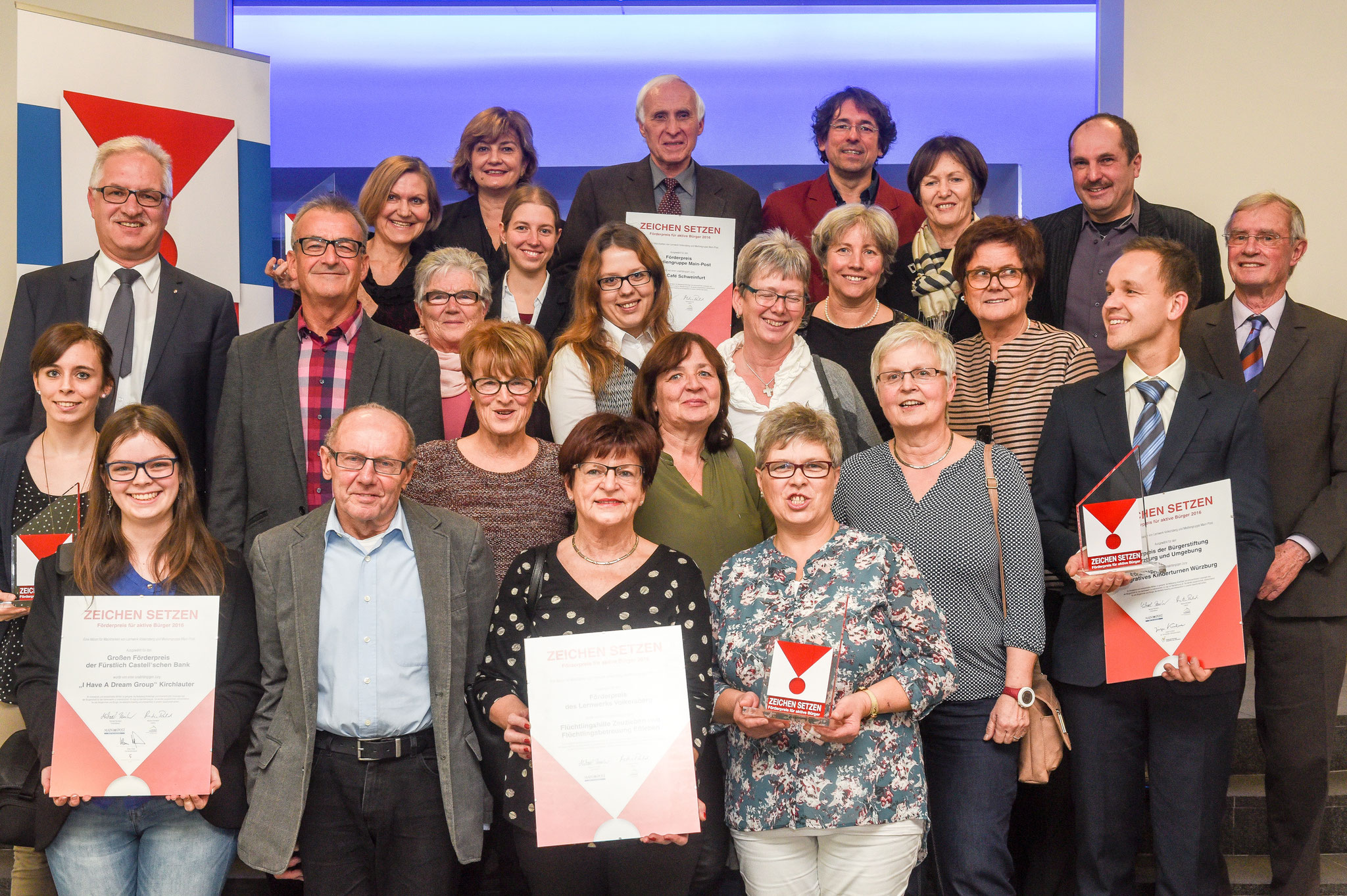 Gruppenfoto aller Gewinner 2017