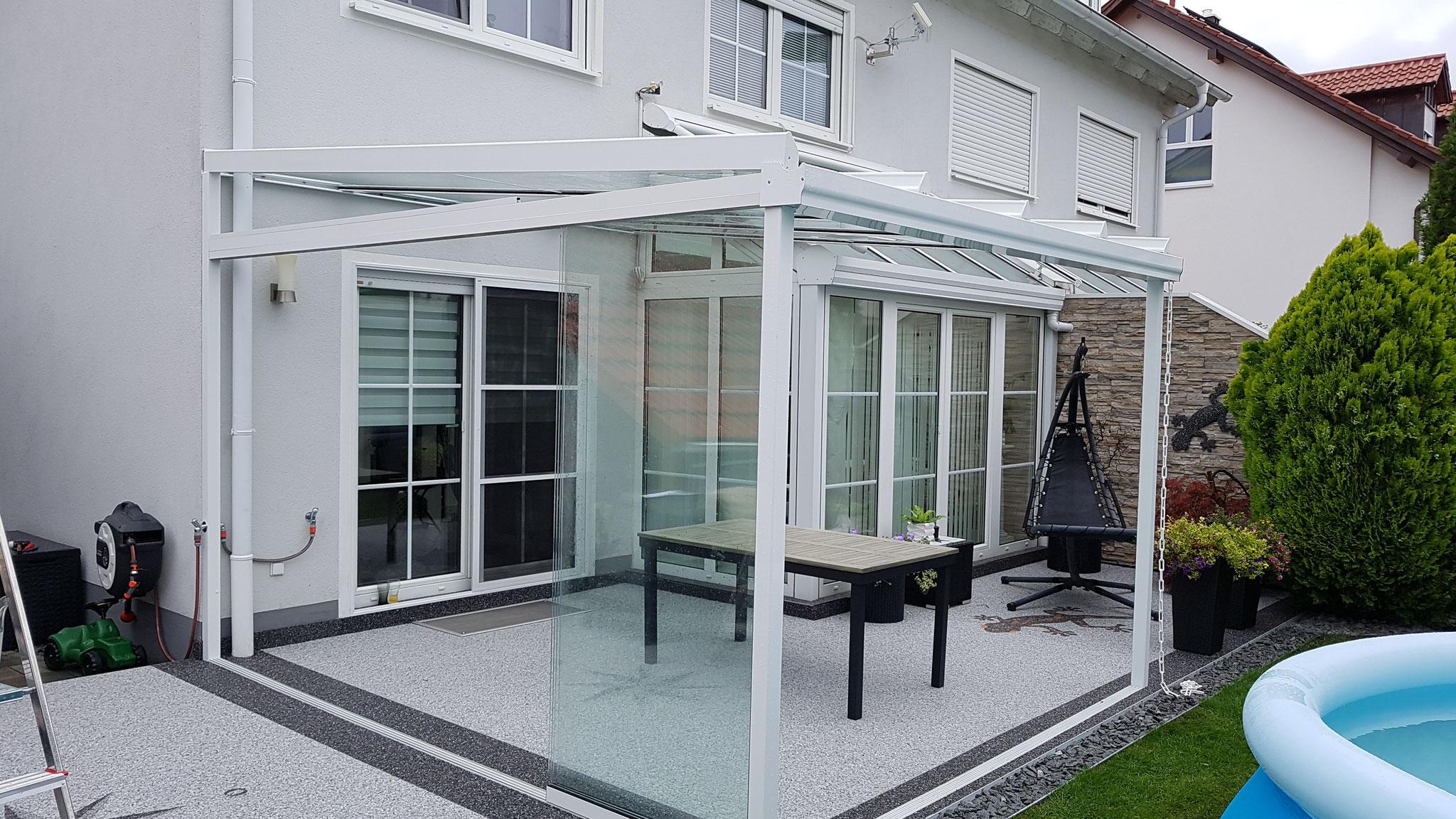 Glasschiebetür Outdoor / Terassenüberdachung