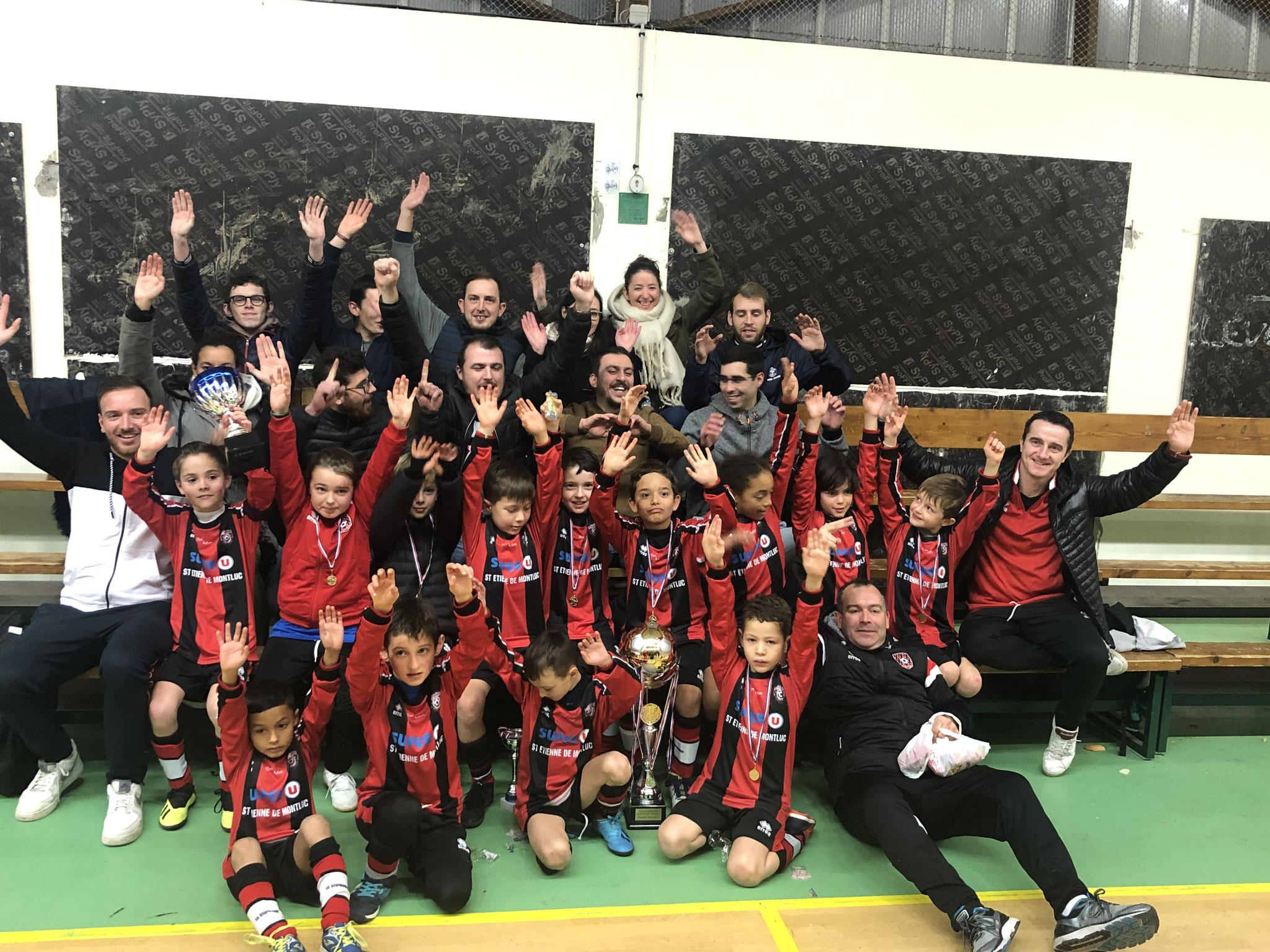 Les amis de Grégory avec les U8/U9 du FC Stéphanois