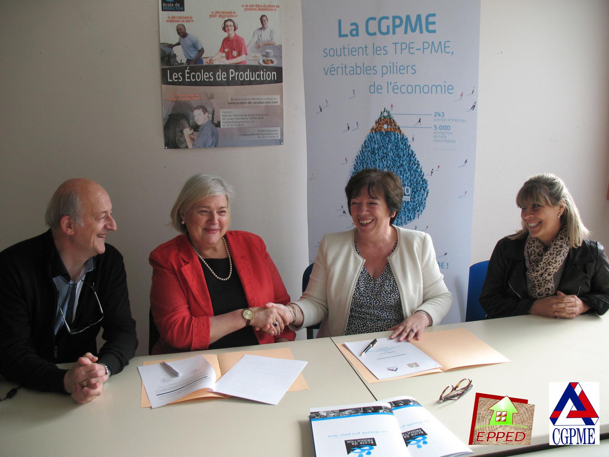 Signature du partenariat avec la CGPME