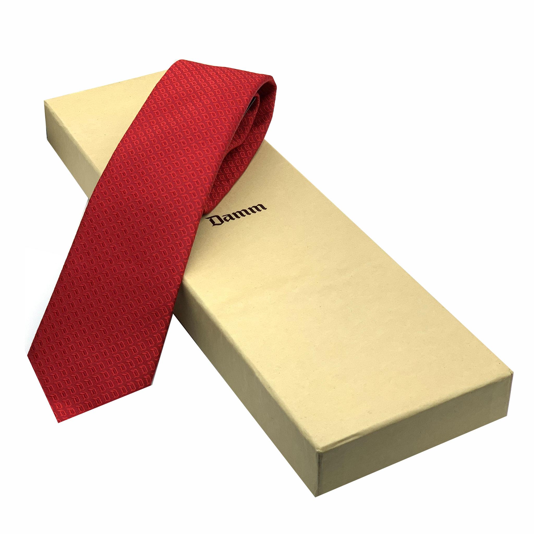 Krawatte mit Verpackung Damm Bierhersteller