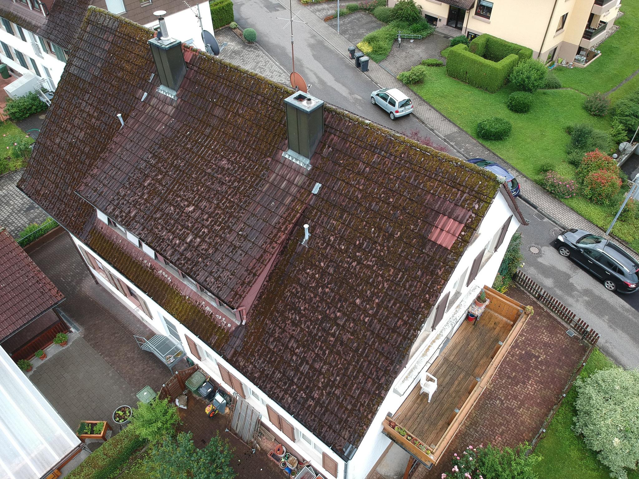 Doppelhausdachsanierung vorher