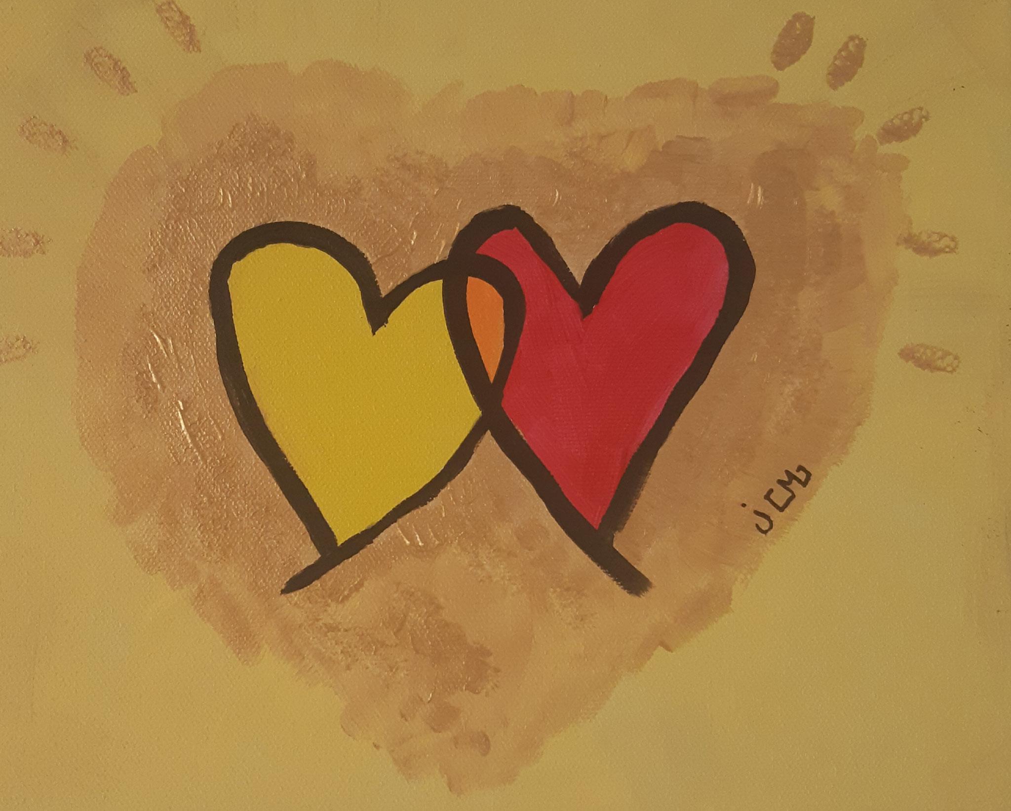 coeurs dorés