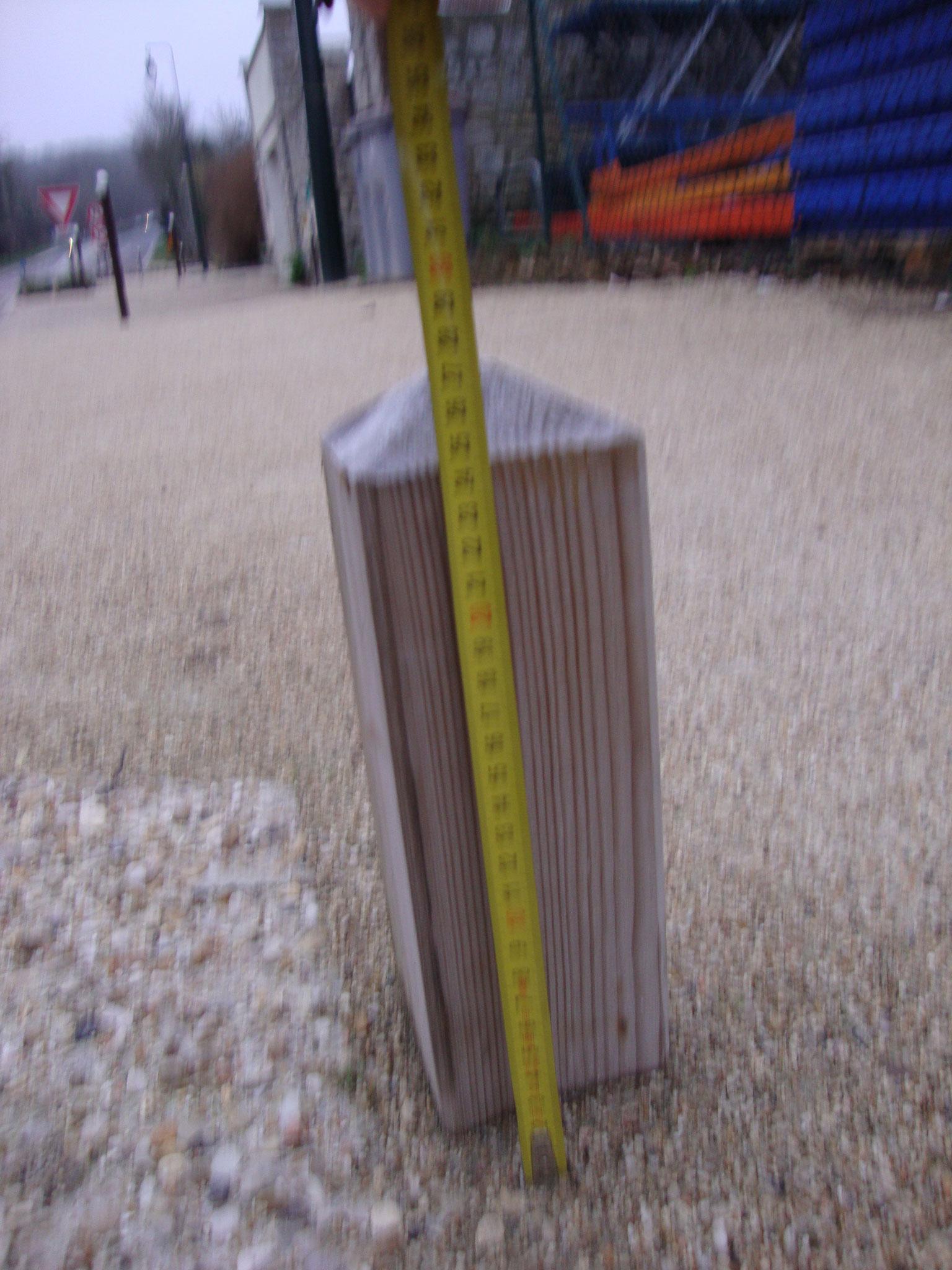 Bourron Marlotte 77580 obstacles bas sur cheminement  hauteur inférieure à 50 cm = danger