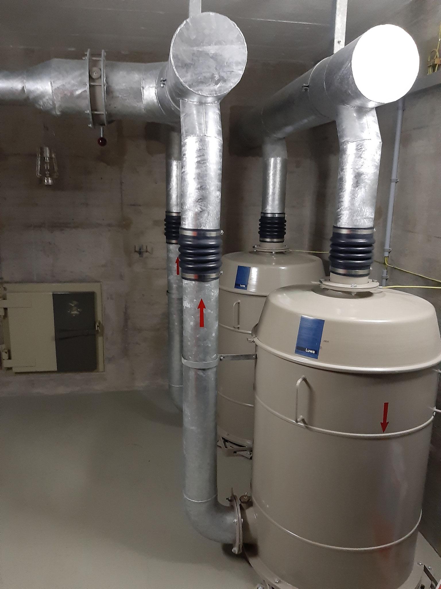 Luftfilteranlage / Système de filtrage d'air Binzberg