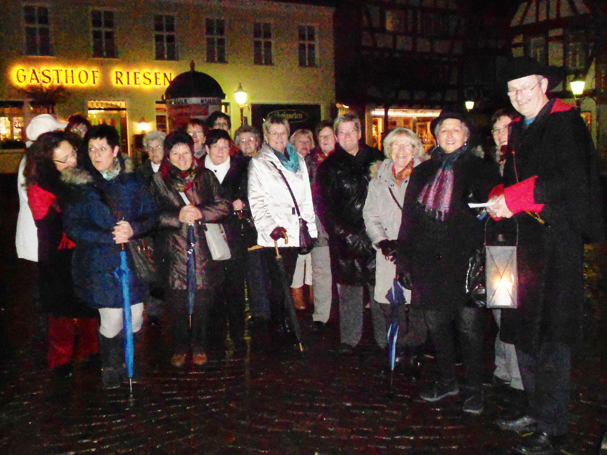 Nachtwächterwanderung in Seligenstadt 2013 Bild: I.Nenner