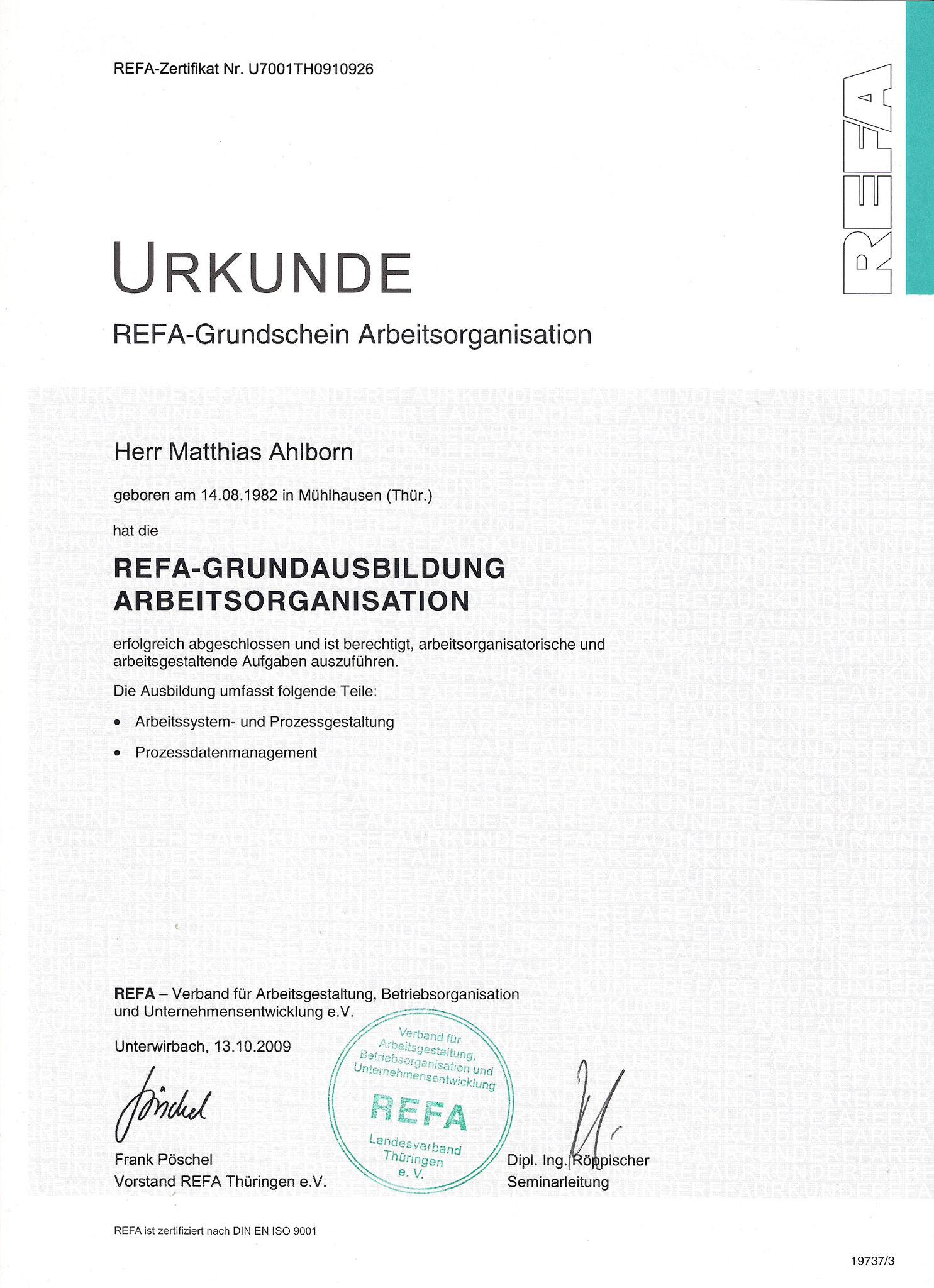REFA Arbeitsstudien und Betriebsorganisation