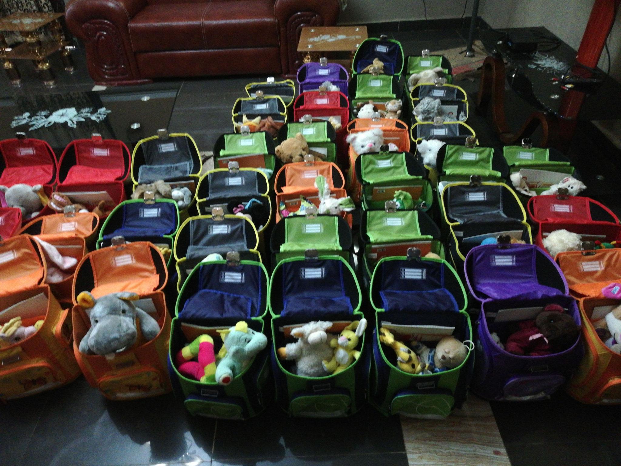 Schultaschen befüllen