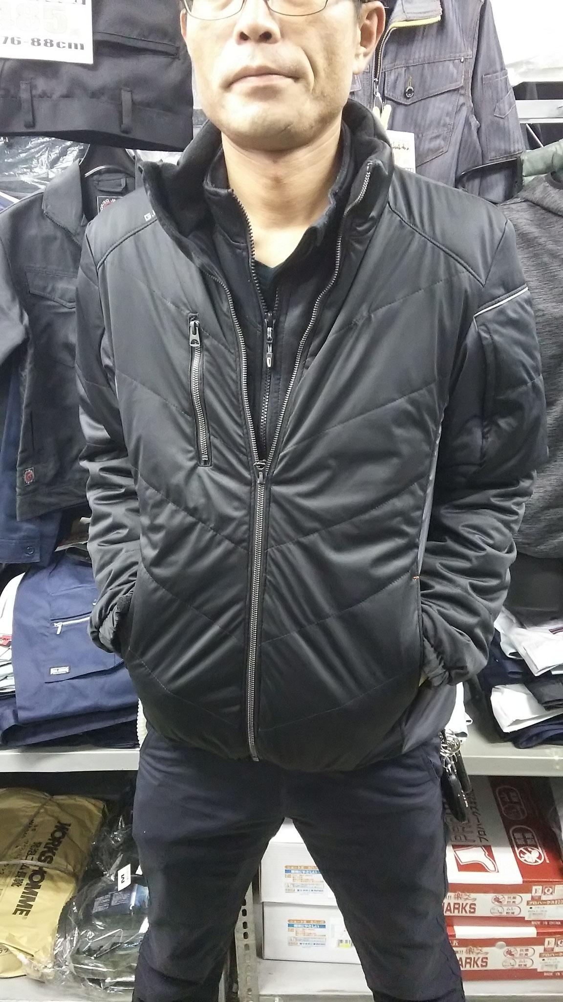 G.GROUND 44603 防風ブルゾン LLサイズを実際に着てみました。ゆったりしているのにタイトに決まる。あまりぴったりが好きではない方にオススメ。