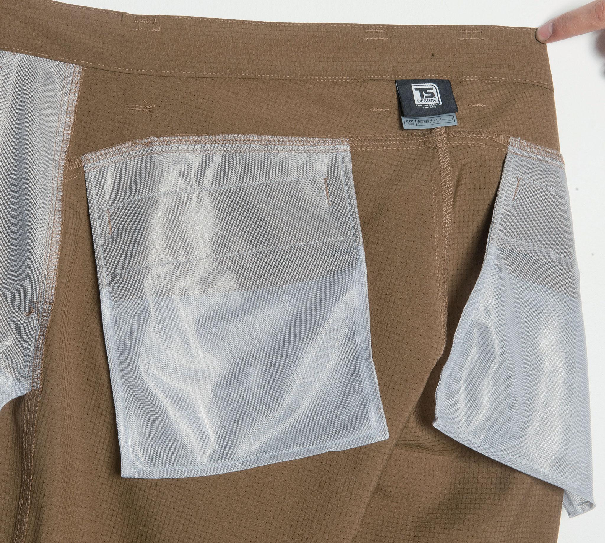 ポケット袋も涼しいメッシュ仕様 84602 ストレッチメンズエアーパンツ