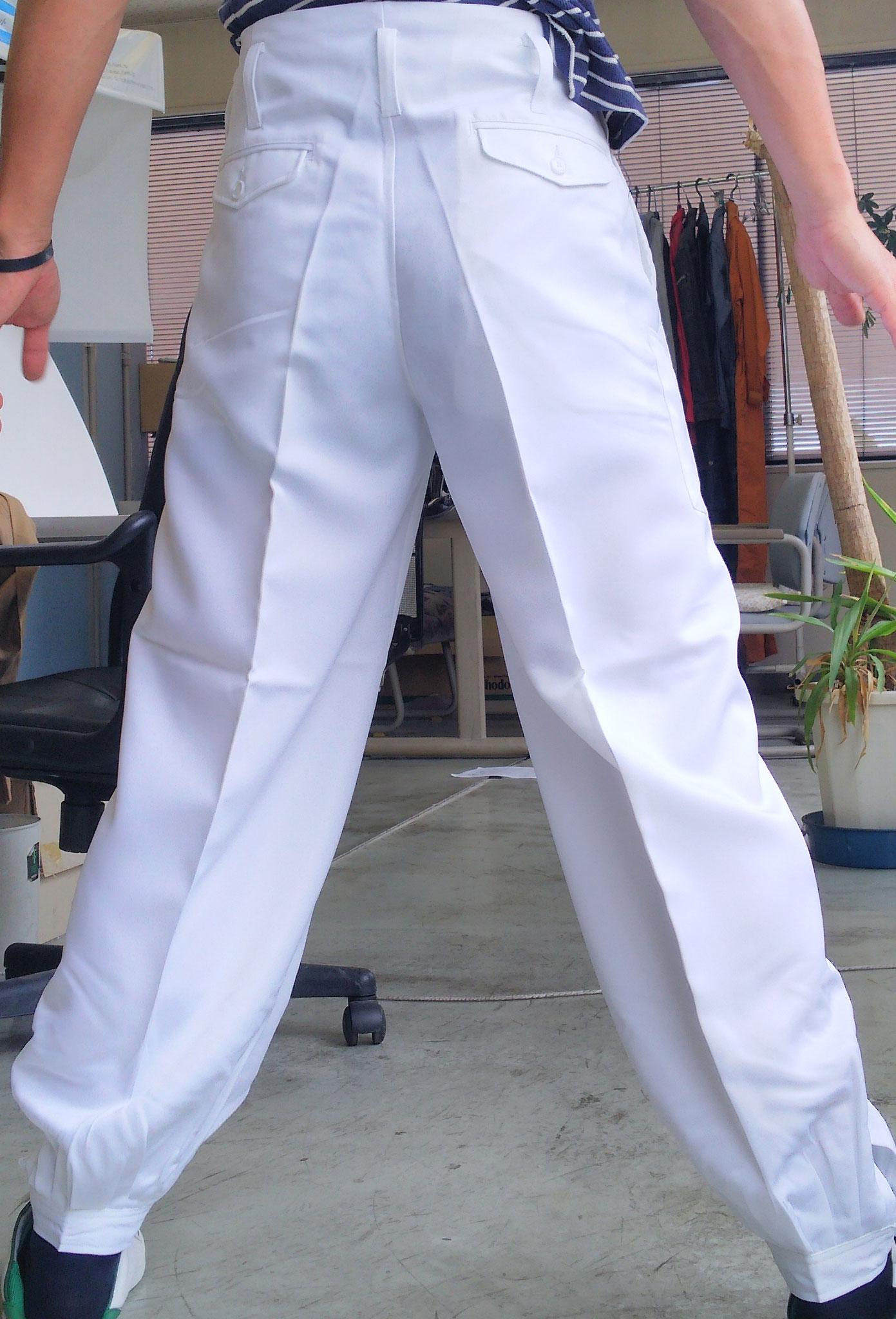 祭り用白ニッカズボン カラーは綺麗な白のみです。