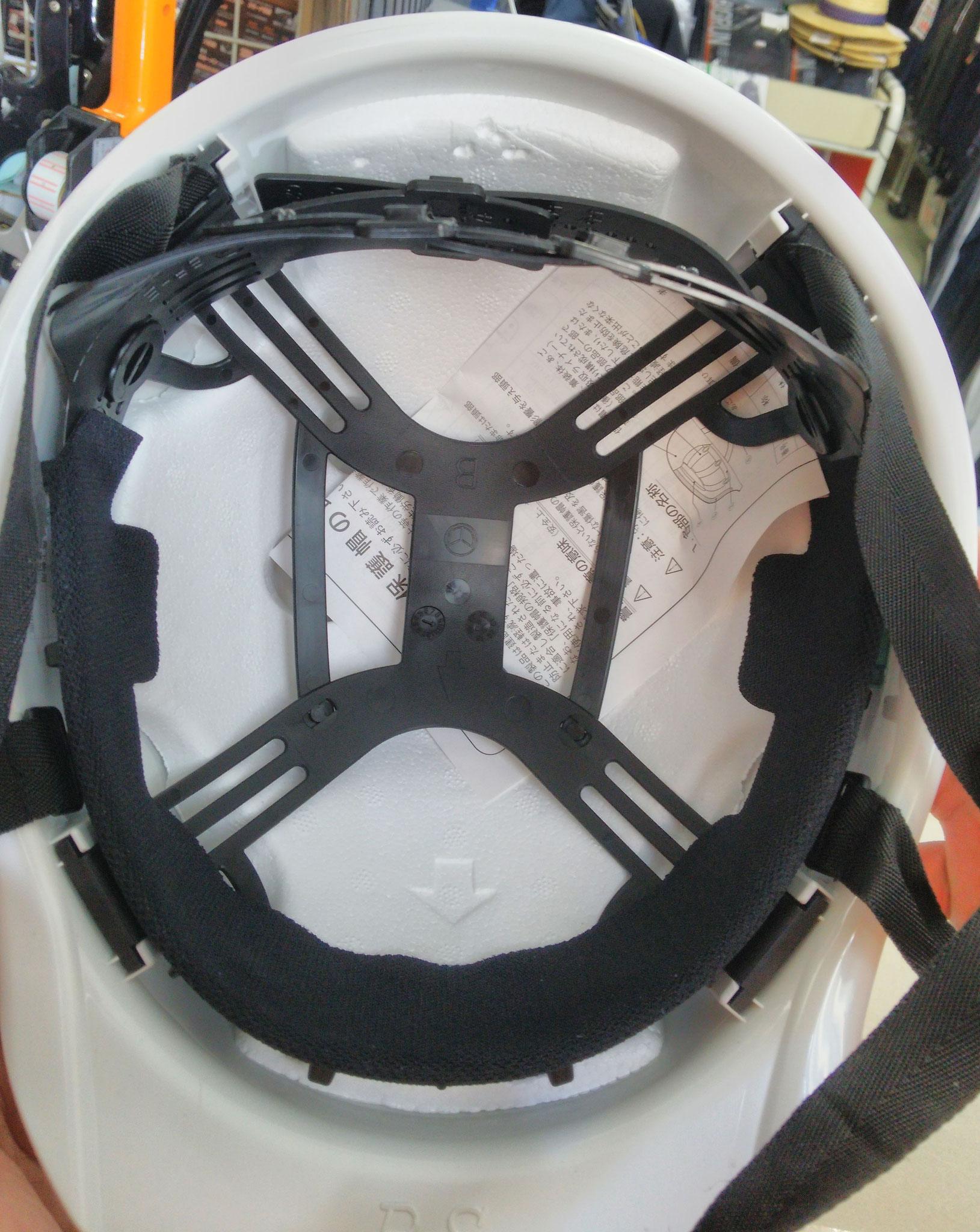 KAGAヘルメット アメリカン型BS-1Pライナー入 内装はシンプルです。