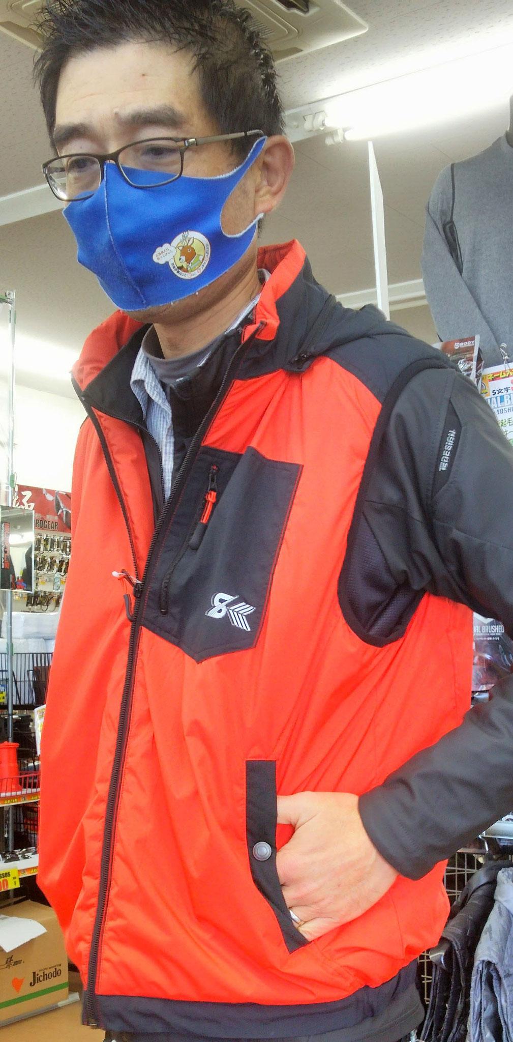 S-HEAT~エス・ヒート~03061 ヒートベスト<暖房ベスト>仕事・レジャーにも着れるデザイン性