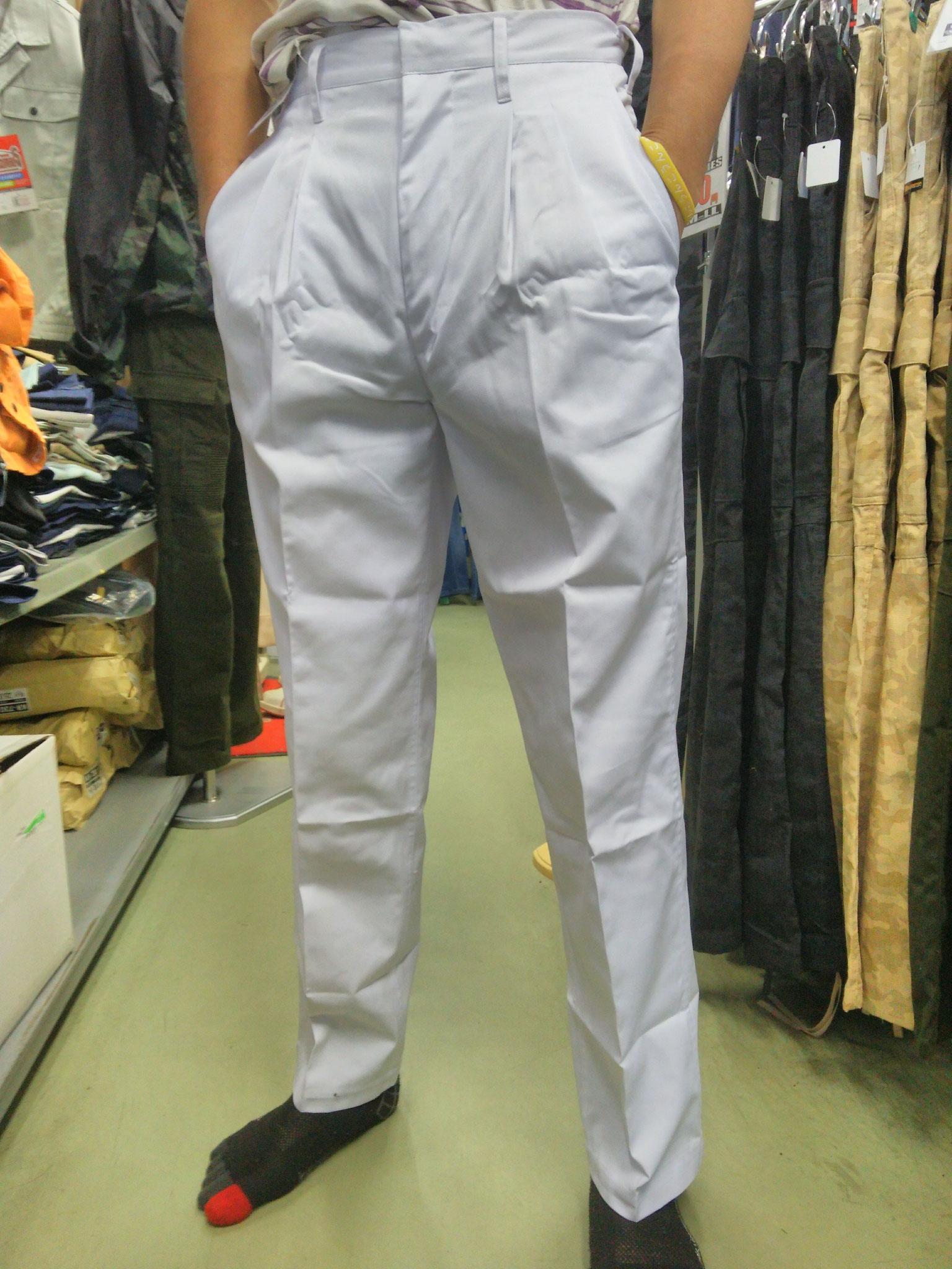 祭り用白ズボン 前はこんな感じです。